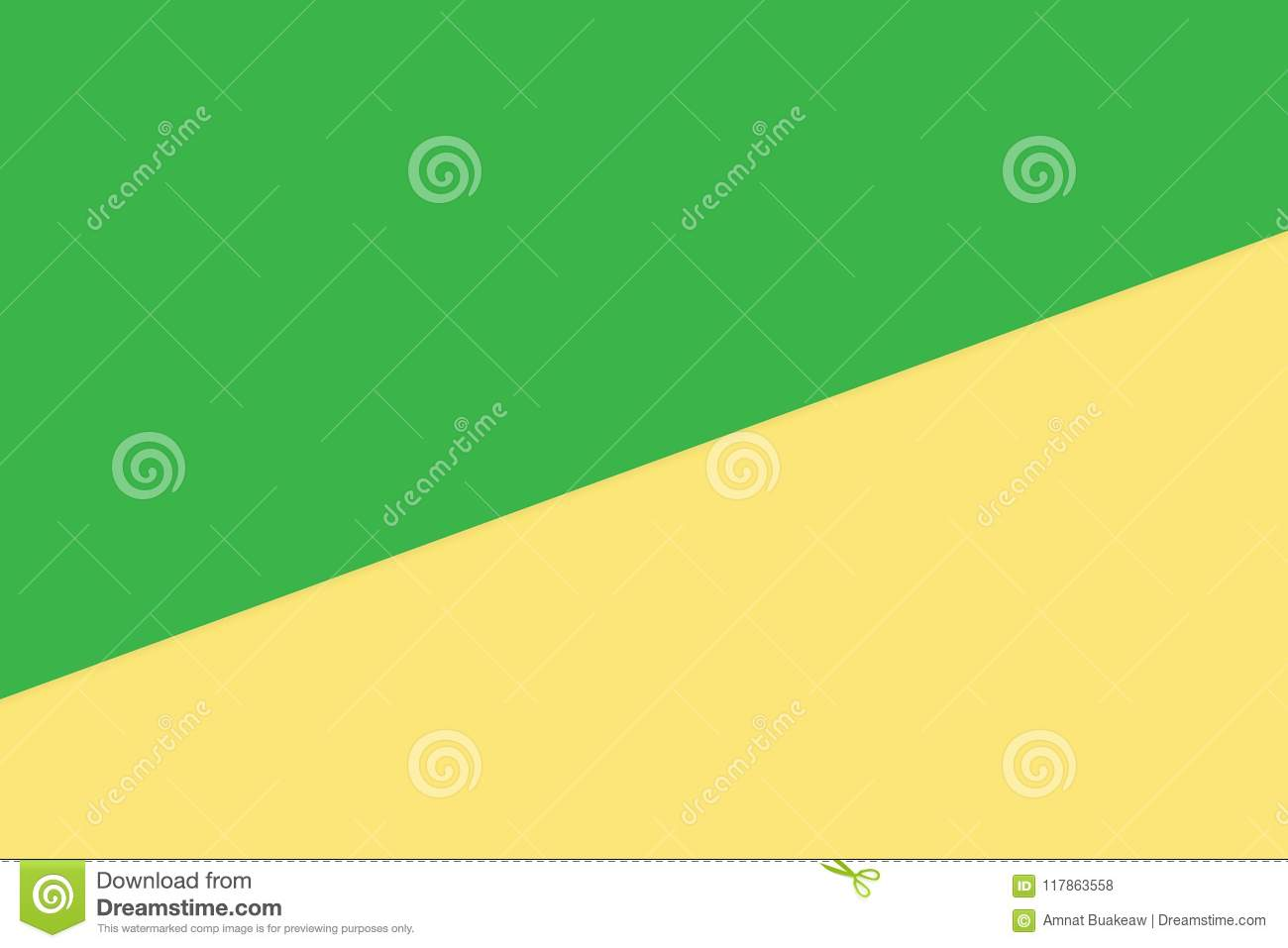 Green Yellow Two Color Soft Paper Pastel Background, Minimal Flat ...