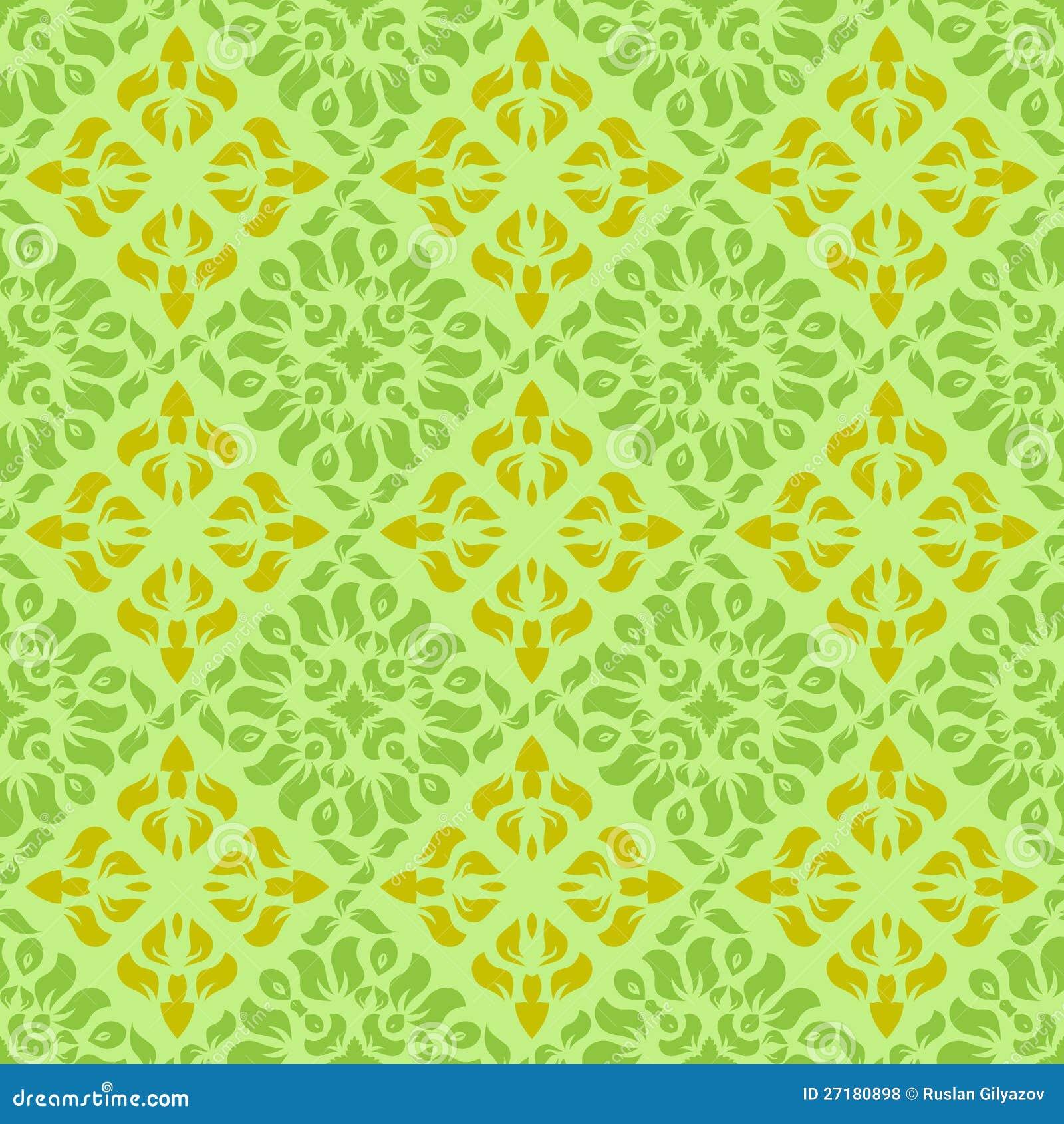 Green Yellow Wallpaper Pattern Illustration 27180898 Megapixl
