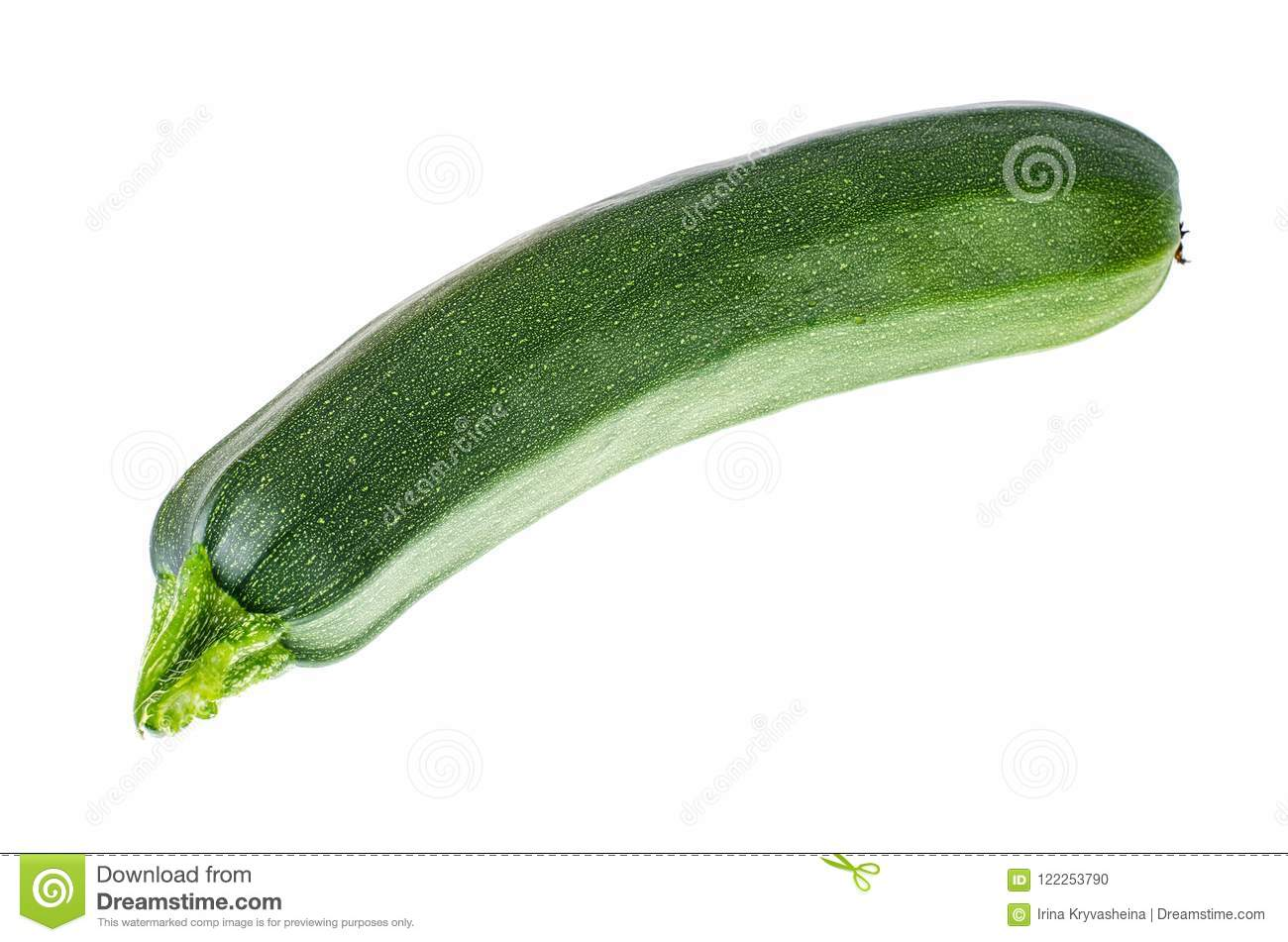 Green zucchini, isolated on white background