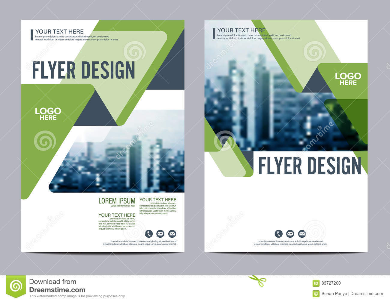 Greenery Brochure Layout design template. Annual Report Flyer Leaflet cover Presentation Modern background. illustration in