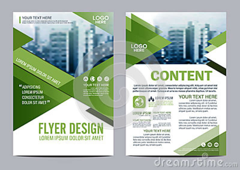 Greenery Brochure Layout design template. Annual Report Flyer Leaflet cover Presentation