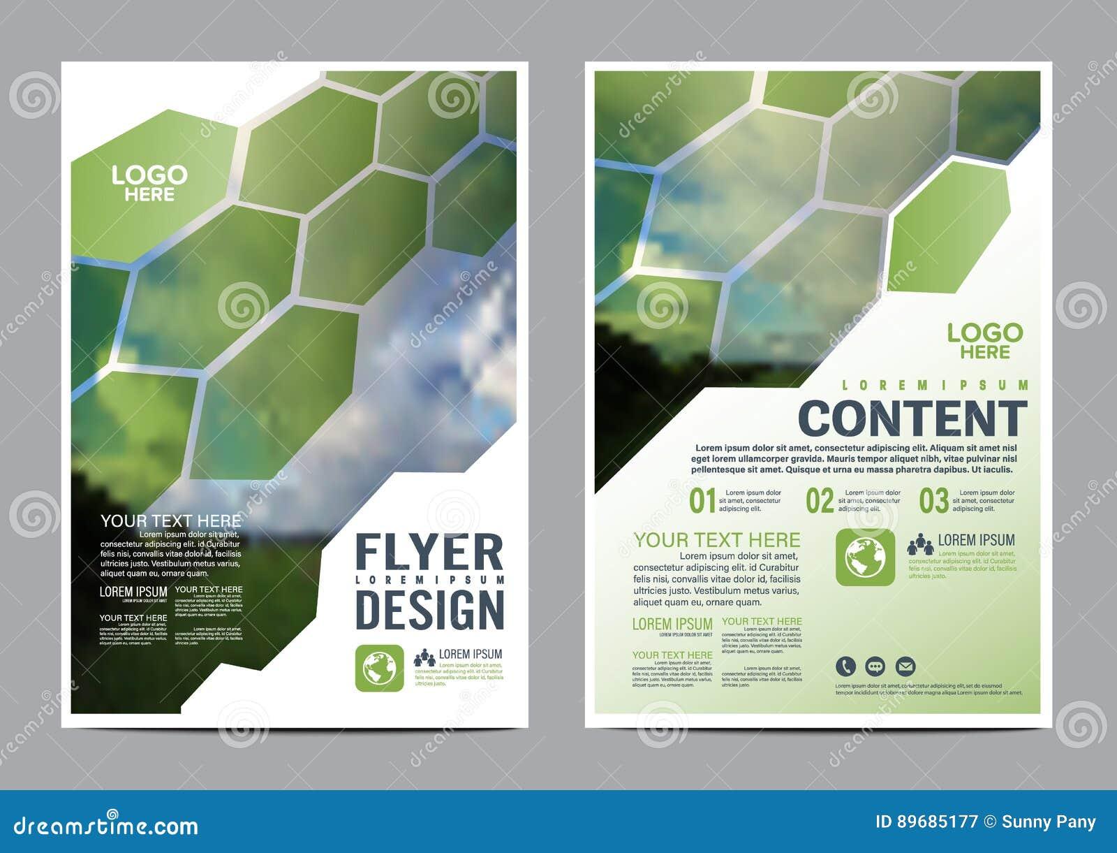 Greenery Brochure Layout design template.
