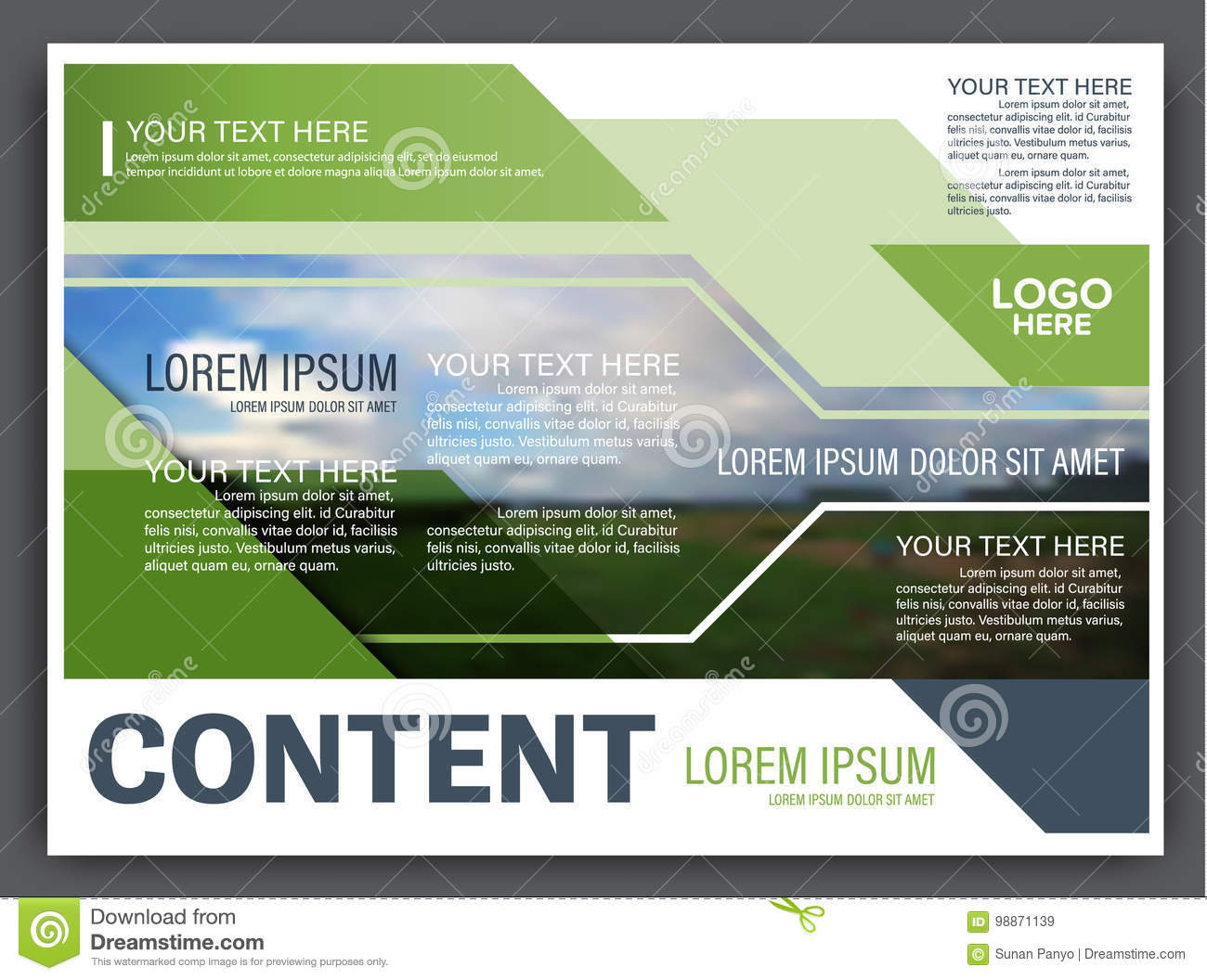 Greenery Presentation Layout Design Template Annual Report Cover – Annual Report Cover Page Template
