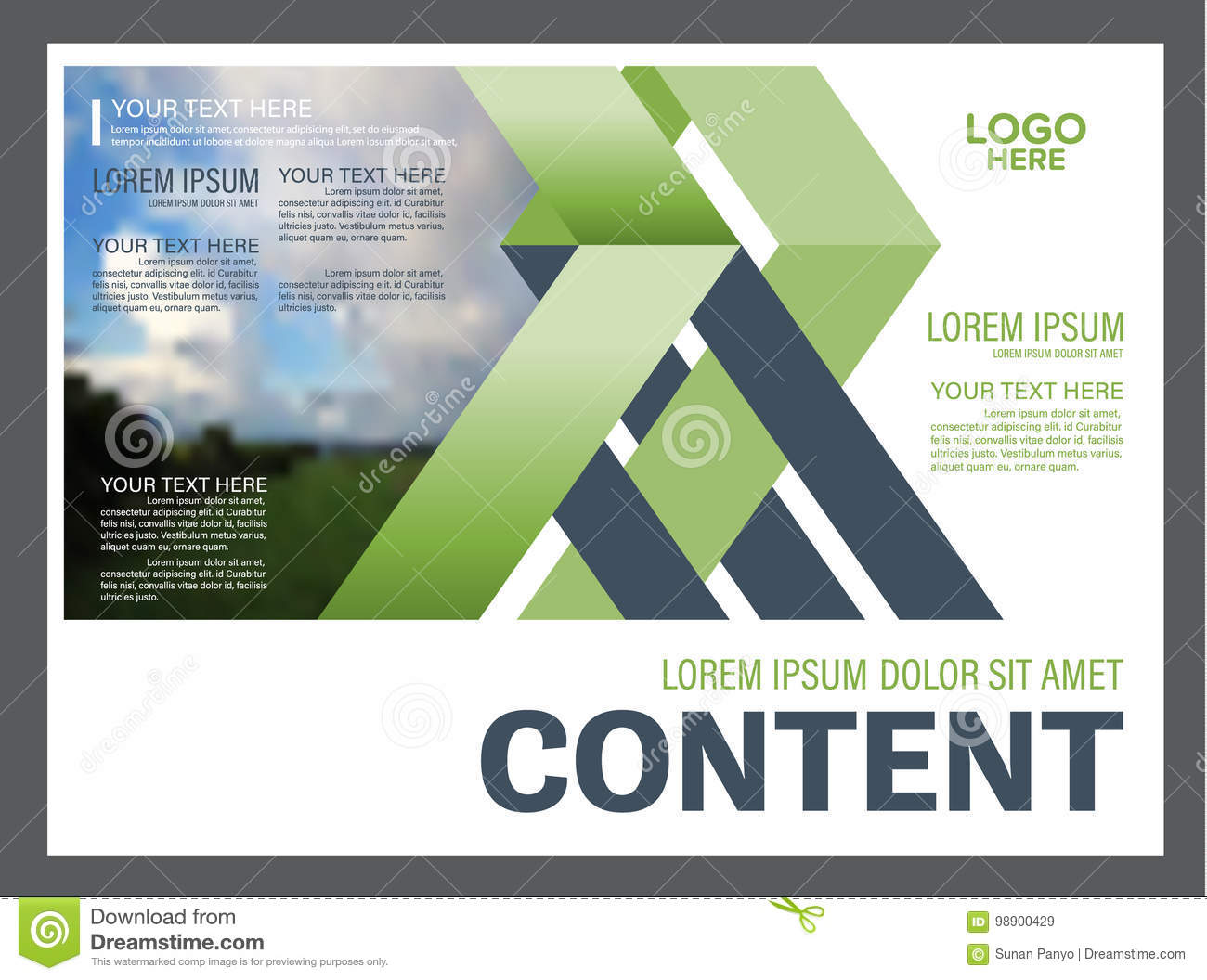 greenery presentation layout design template  annual