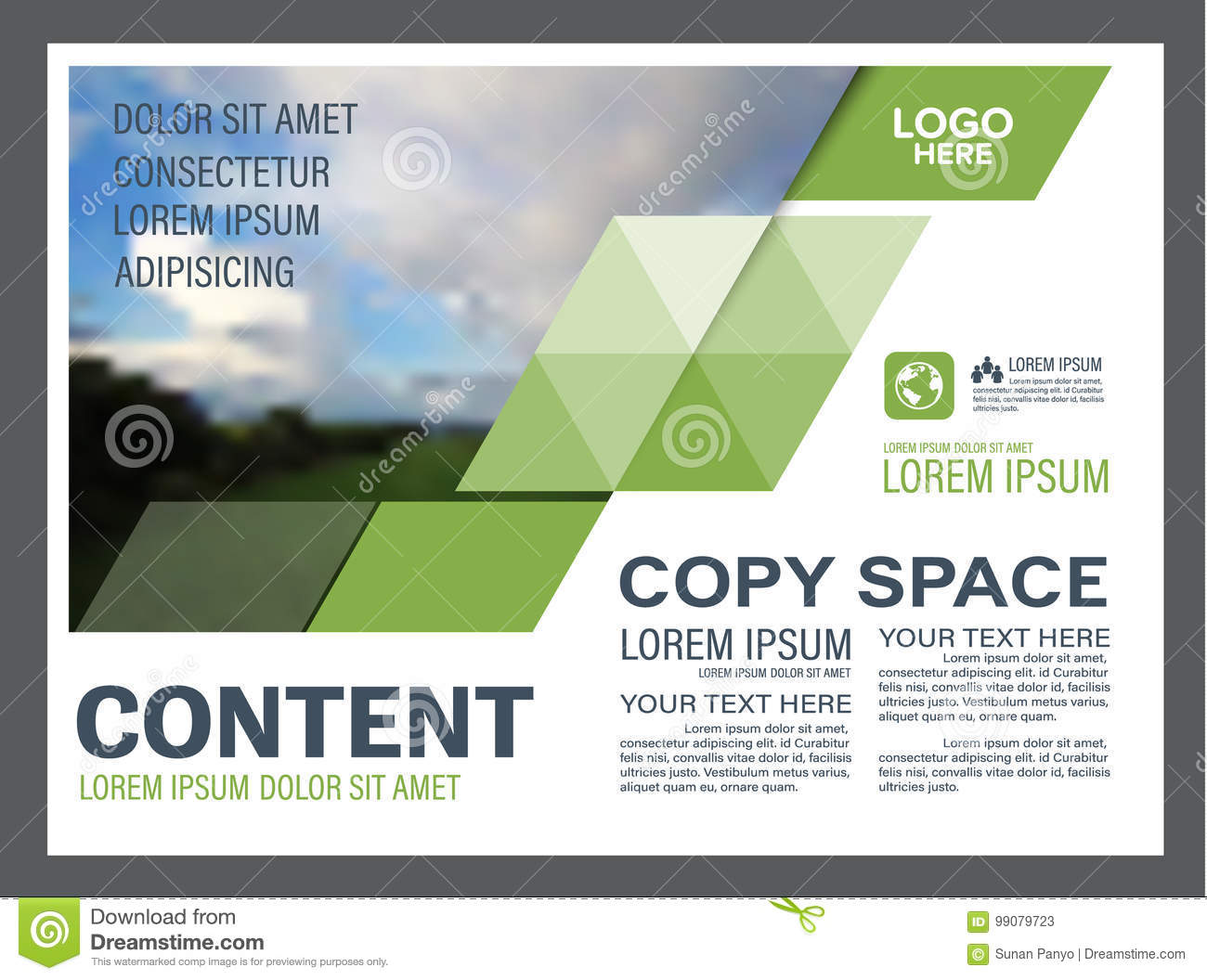 Greenery Presentation Layout Design Template Annual Report Cover