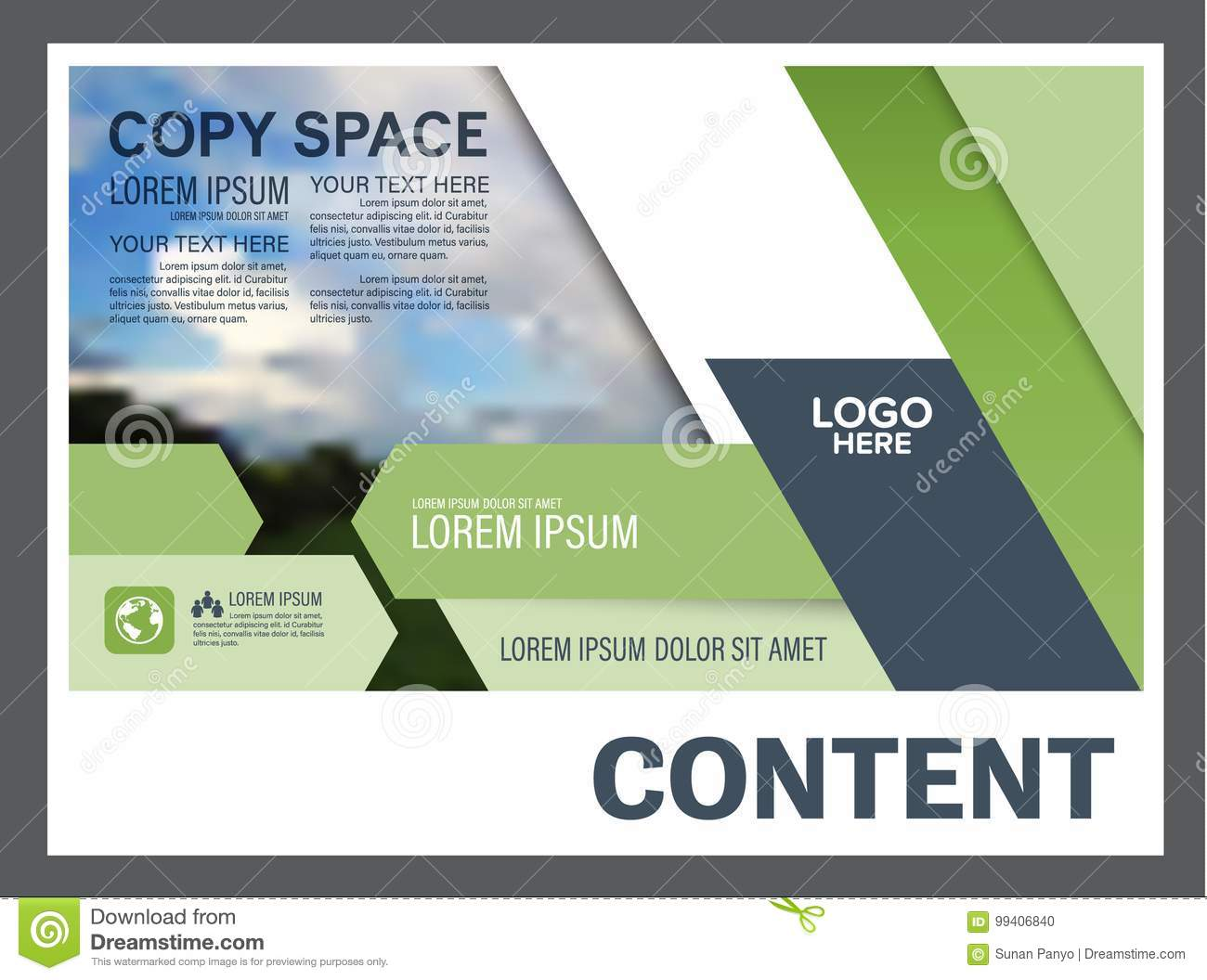 Greenery Presentation Layout Design Template Annual Report