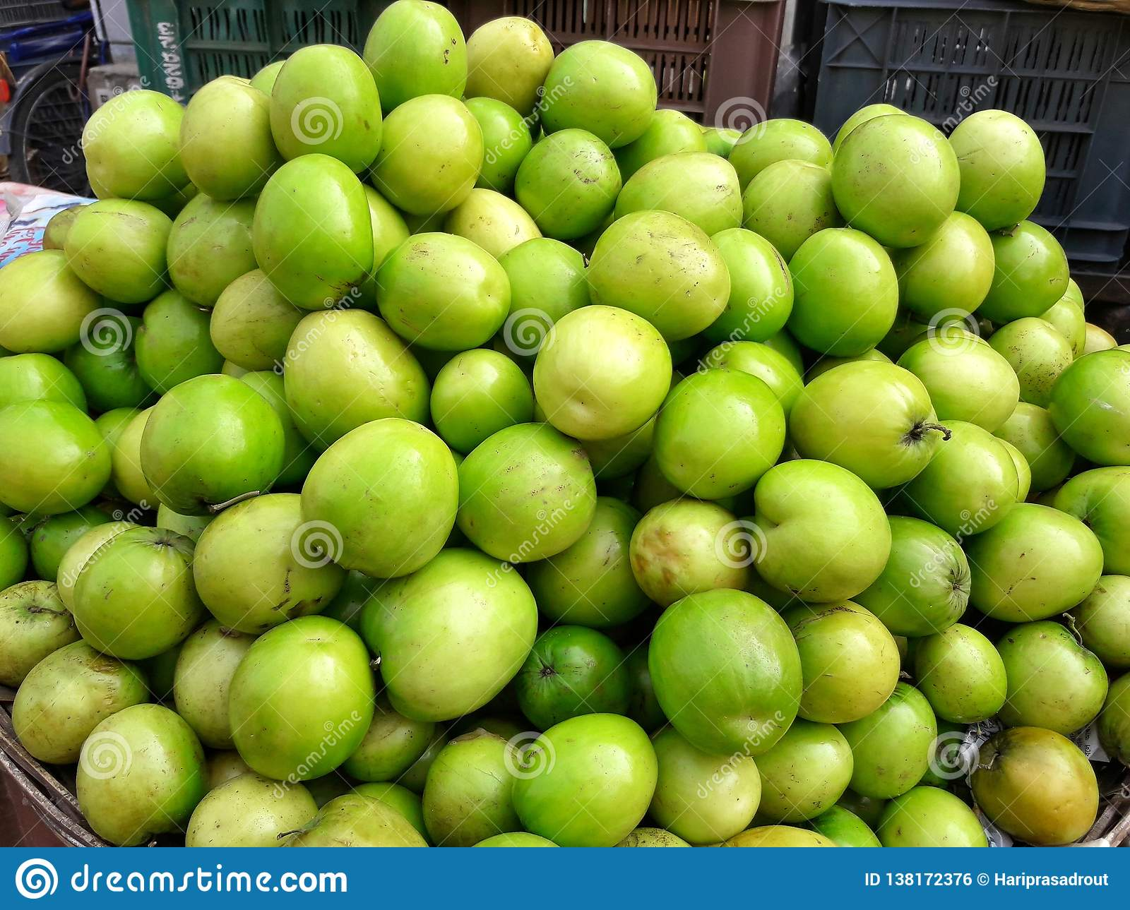 Greengage Fruits in market for sale.