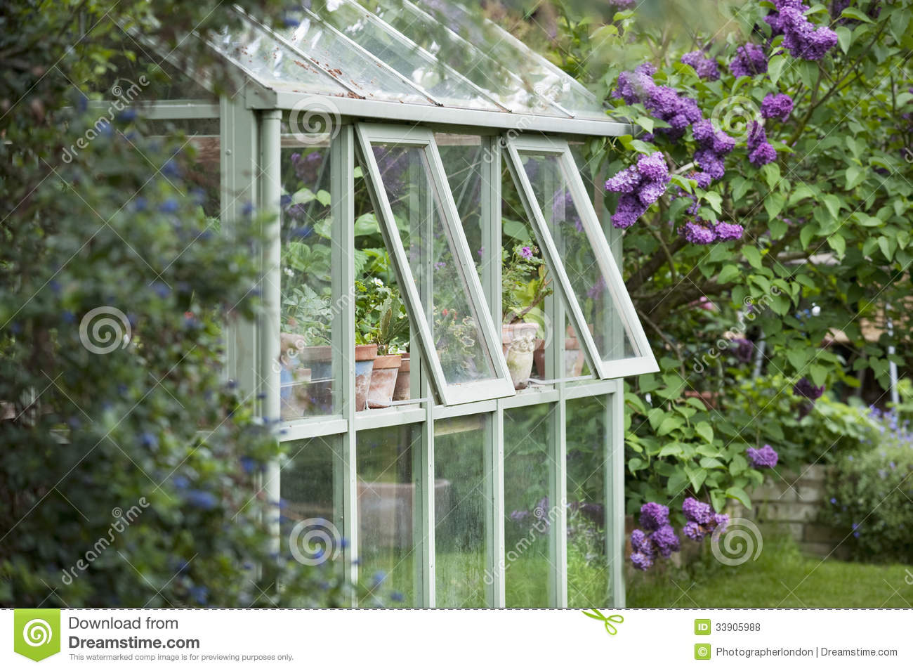 Greenhouse In Back Garden Royalty Free Stock Photos Image 33905988