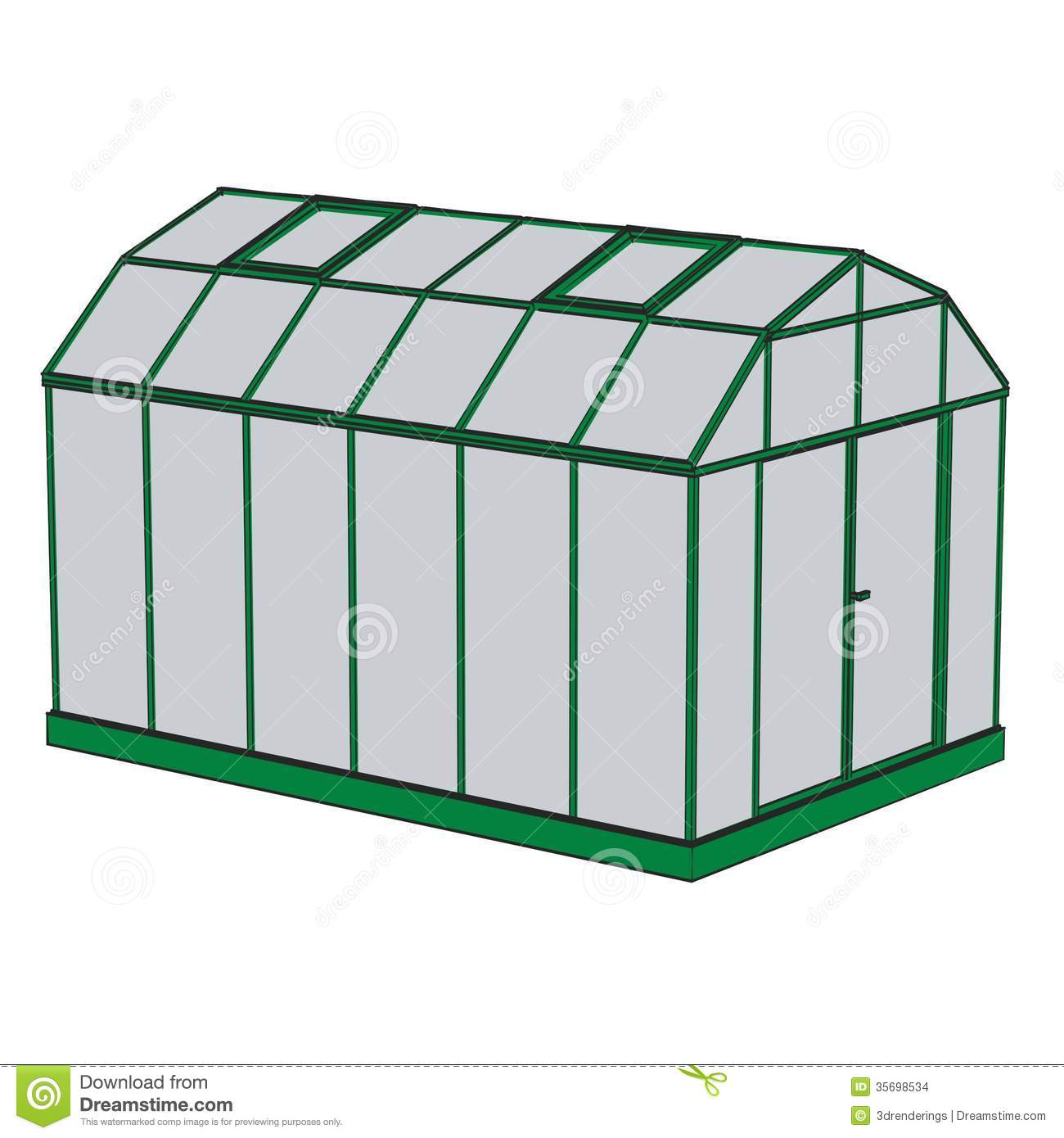 Draw House Plans Greenhouse Building Stock Images Image 35698534