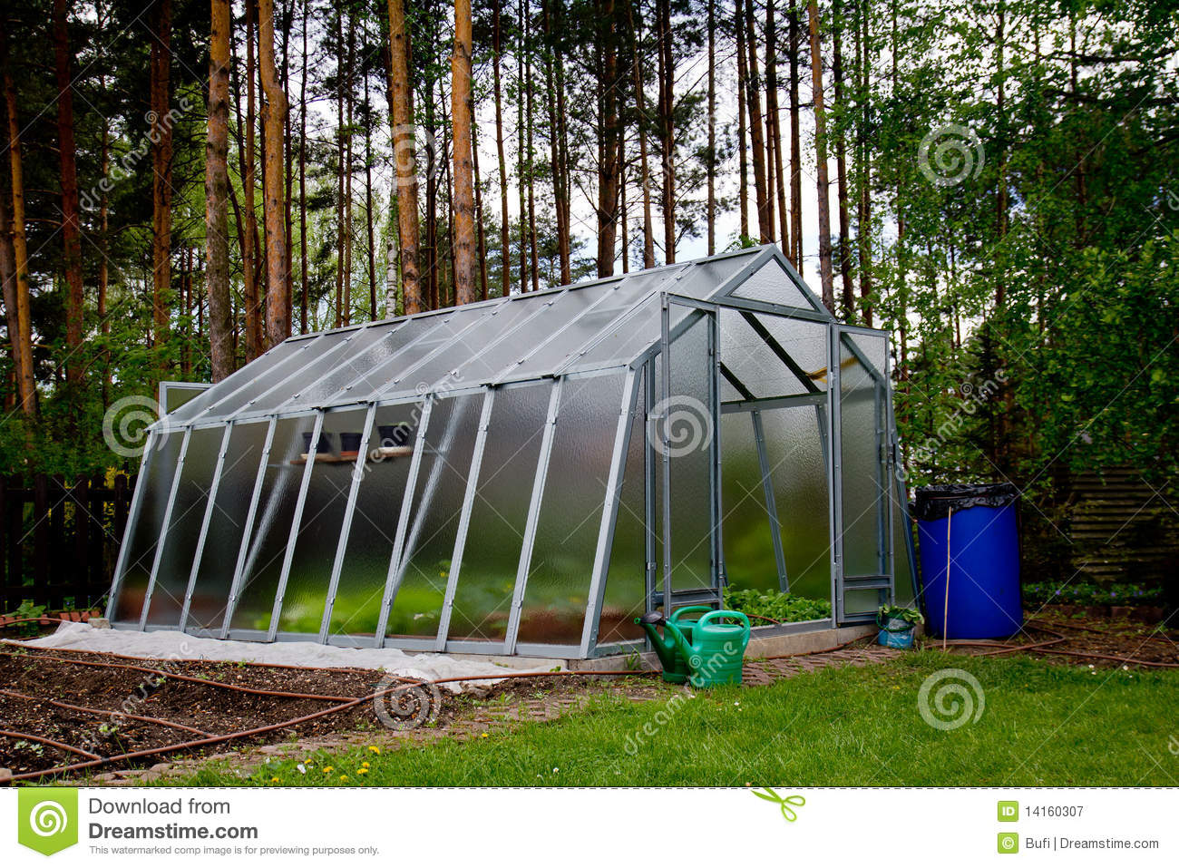 Pleasing Greenhouse By The Forest Stock Image Image Of Ecology Home Interior And Landscaping Oversignezvosmurscom