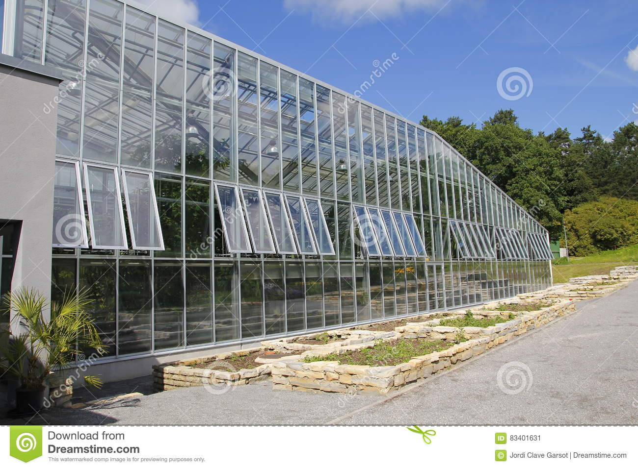 Greenhouse Glass Facade Stock Image Image Of Vegetable