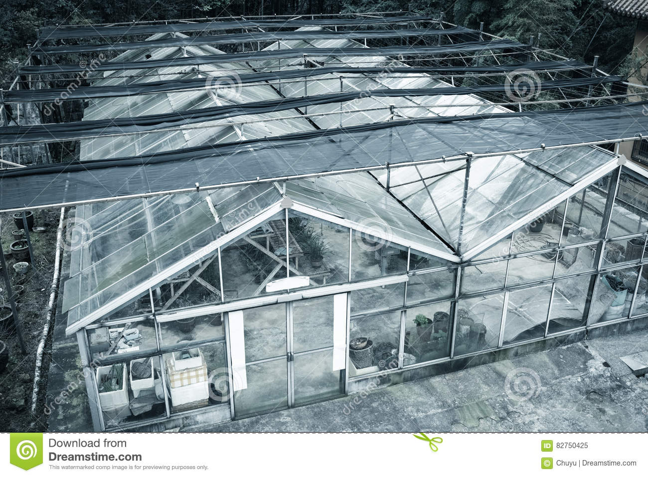 greenhouse in hill stock image image of hothouse building 82750425