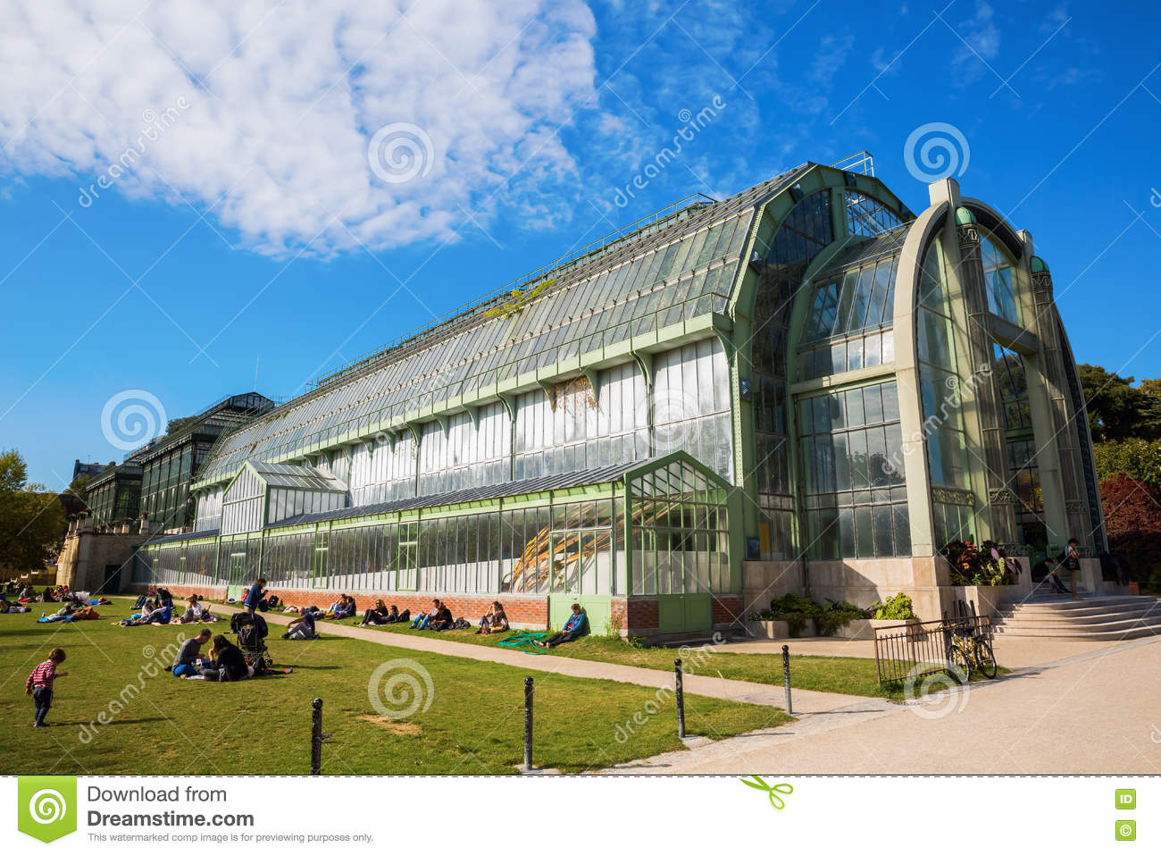 Greenhouse in the jardin des plantes in paris editorial - Esplanade jardin des plantes paris ...