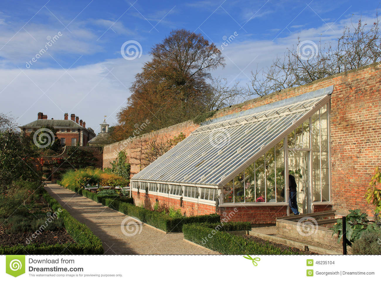 Greenhouse And Kitchen Garden Beningbrough Hall Editorial Stock