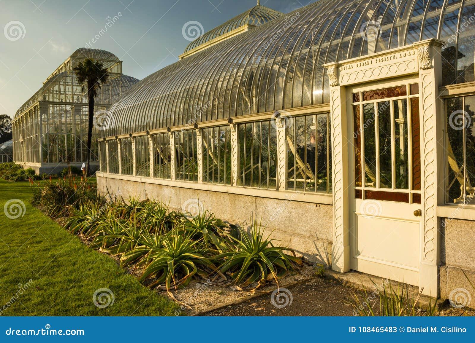 Greenhouse. National Botanic Gardens. Dublin. Ireland Stock Image ...