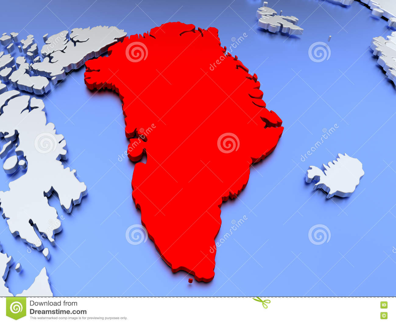 Greenland on world map stock illustration illustration of globe download comp gumiabroncs Image collections