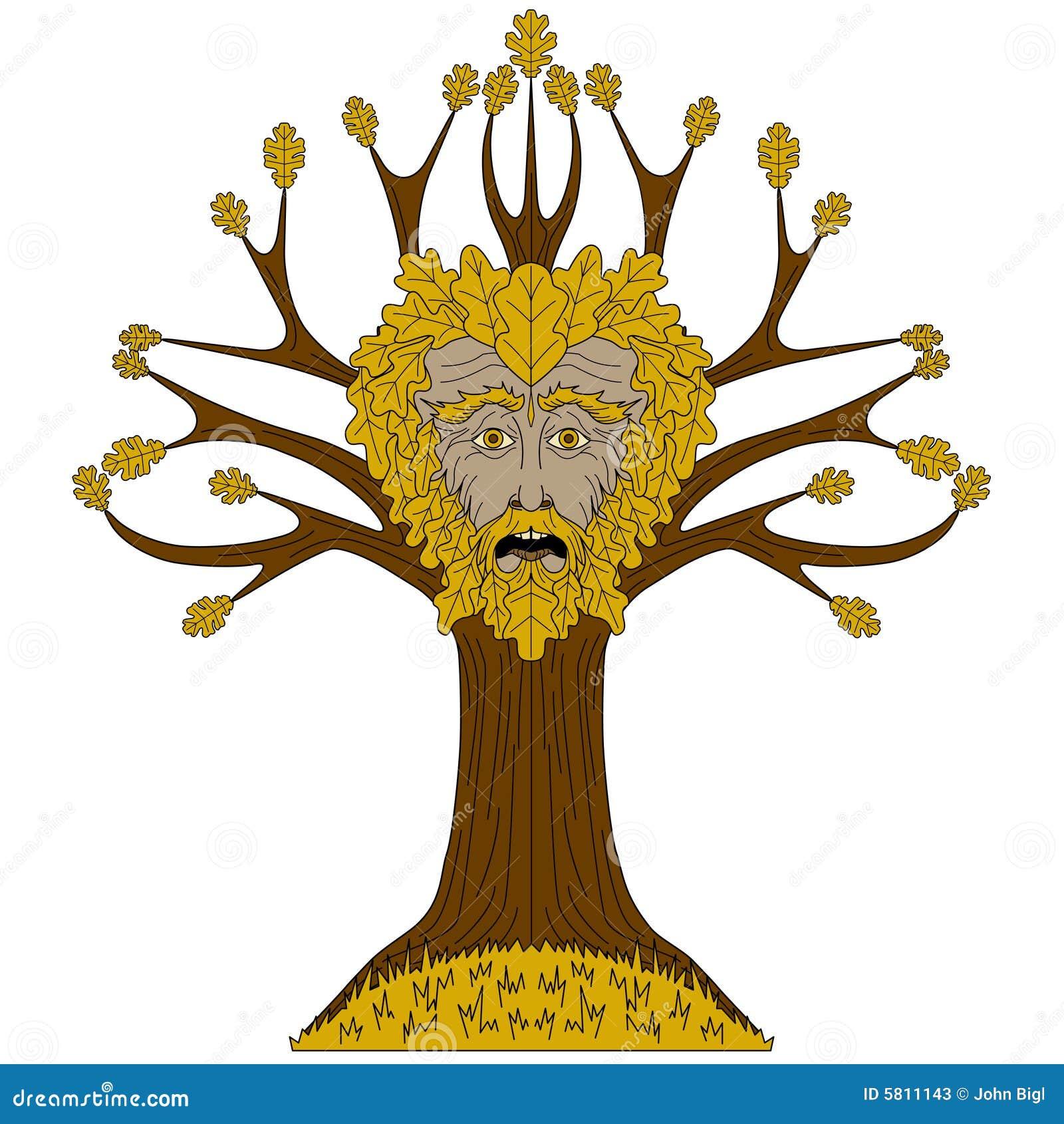 Greenman δρύινο δέντρο
