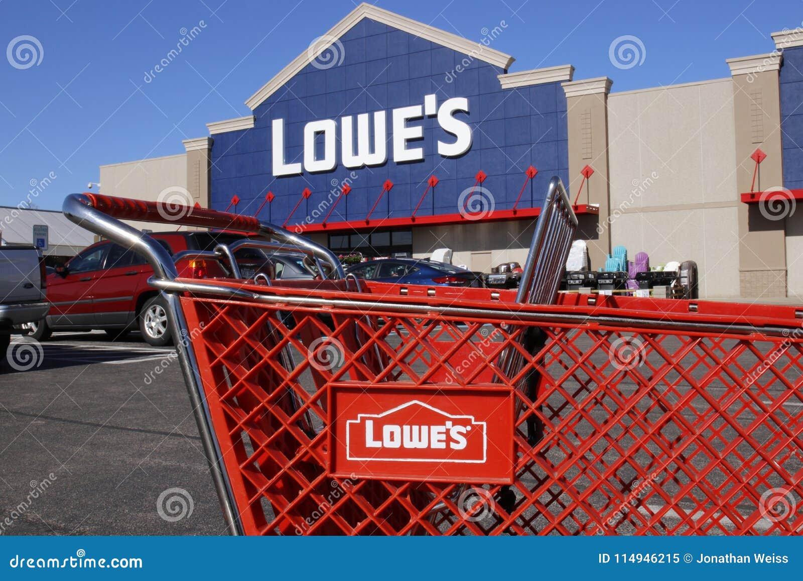 b7ed7cd223 Greenville - Circa April 2018  Lowe s Home Improvement Warehouse. Lowe s operates  retail