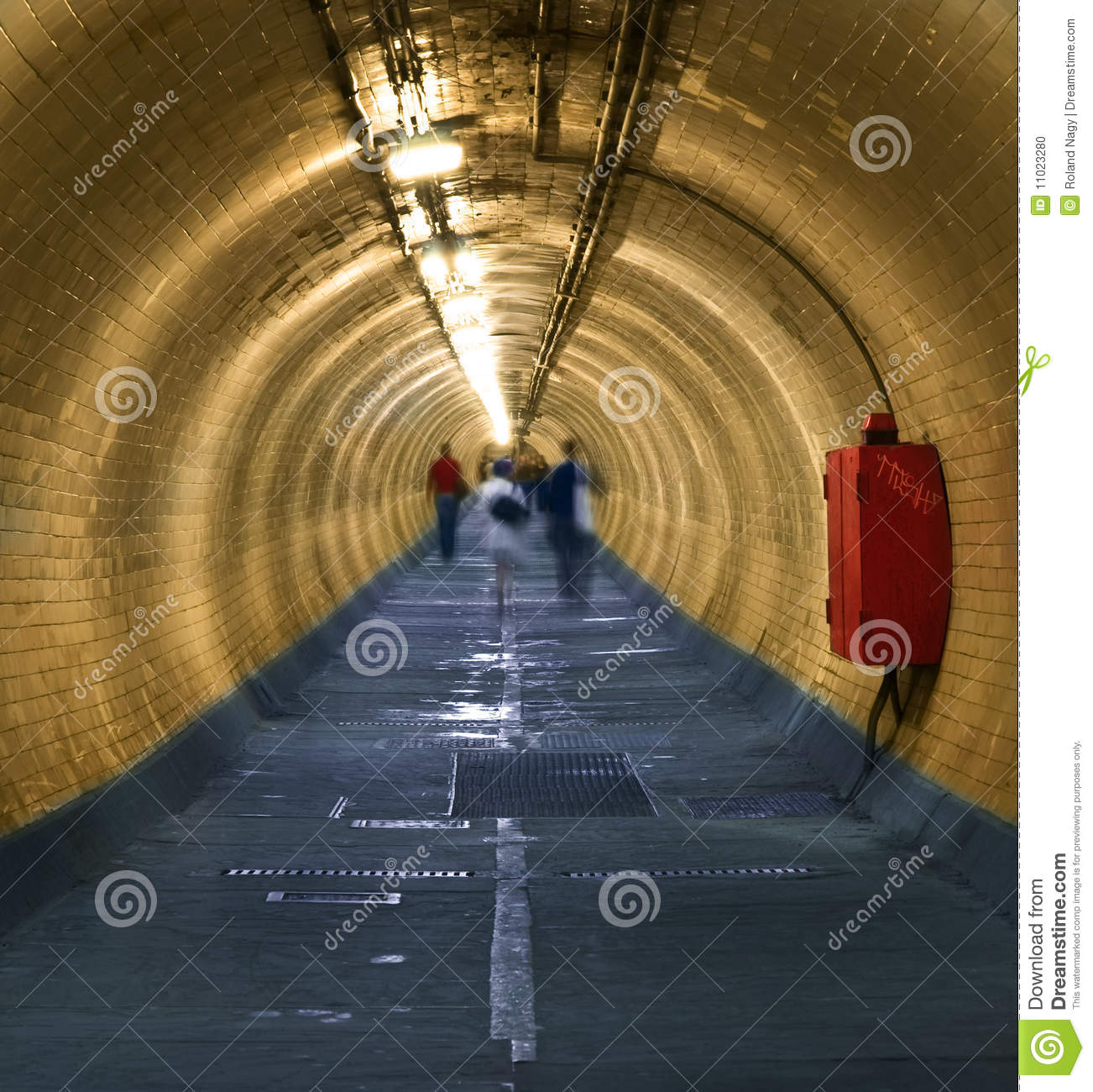 Download Greenwich Foot Tunnel stock photo. Image of light, people - 11023280