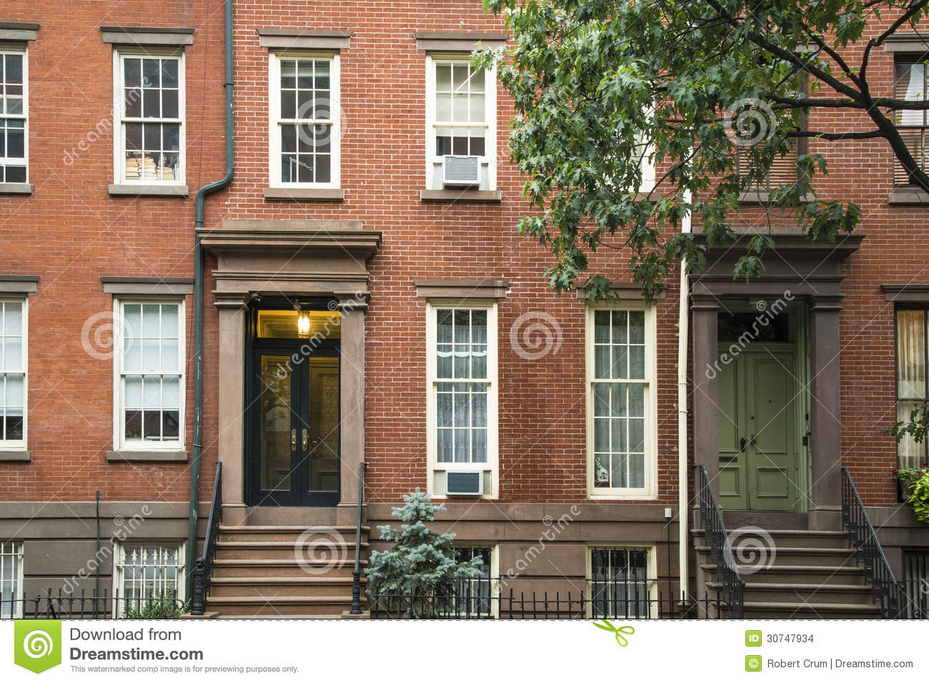 Greenwich village apartment buildings new york city stock for Nyc greenwich village apartments