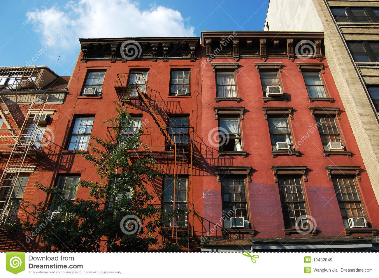 Greenwich village apartment in nyc royalty free stock for Nyc greenwich village apartments