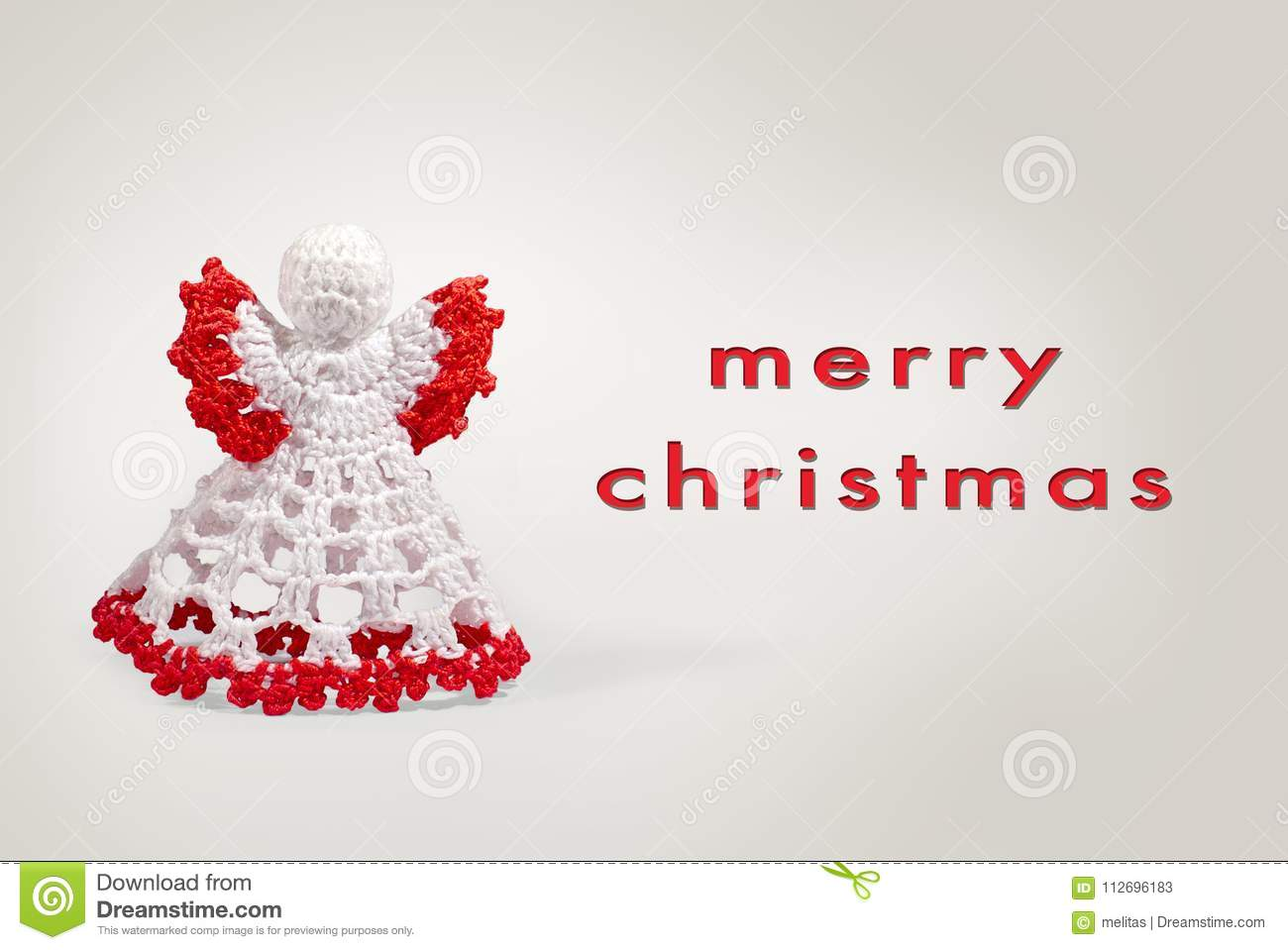 Greeting card angel crochet with merry christmas writing stock image download greeting card angel crochet with merry christmas writing stock image image of festive m4hsunfo