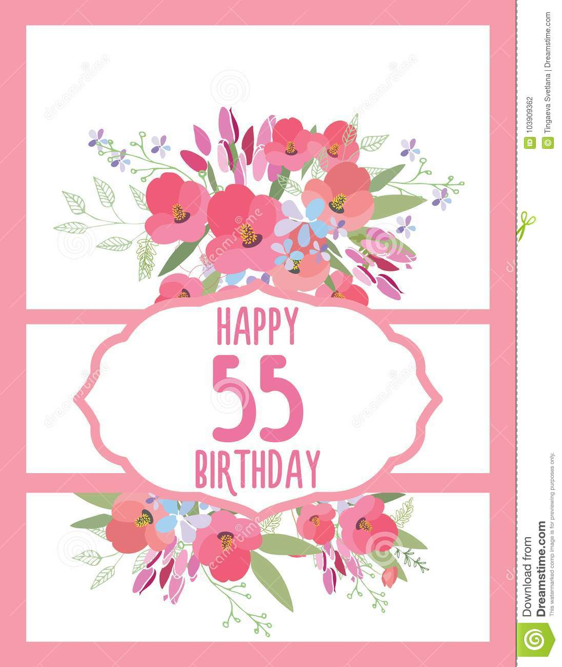 Greeting card for anniversary birthday stock vector illustration download greeting card for anniversary birthday stock vector illustration of flower postcard 103909362 izmirmasajfo