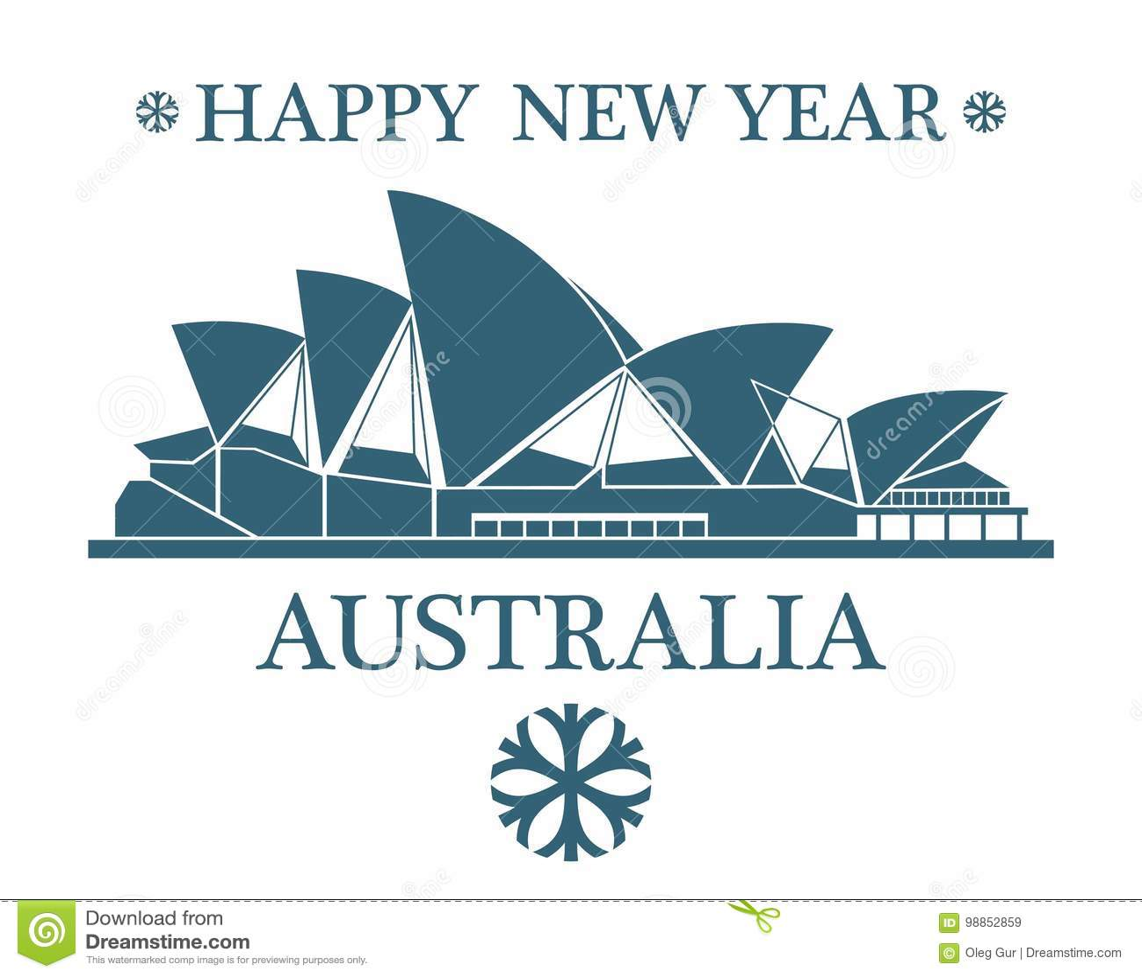 Greeting Card Australia Stock Vector Illustration Of Black 98852859
