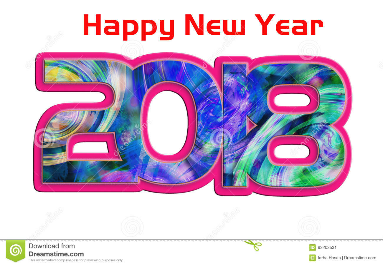 2018 happy new year greeting cardcolorful backgrounds