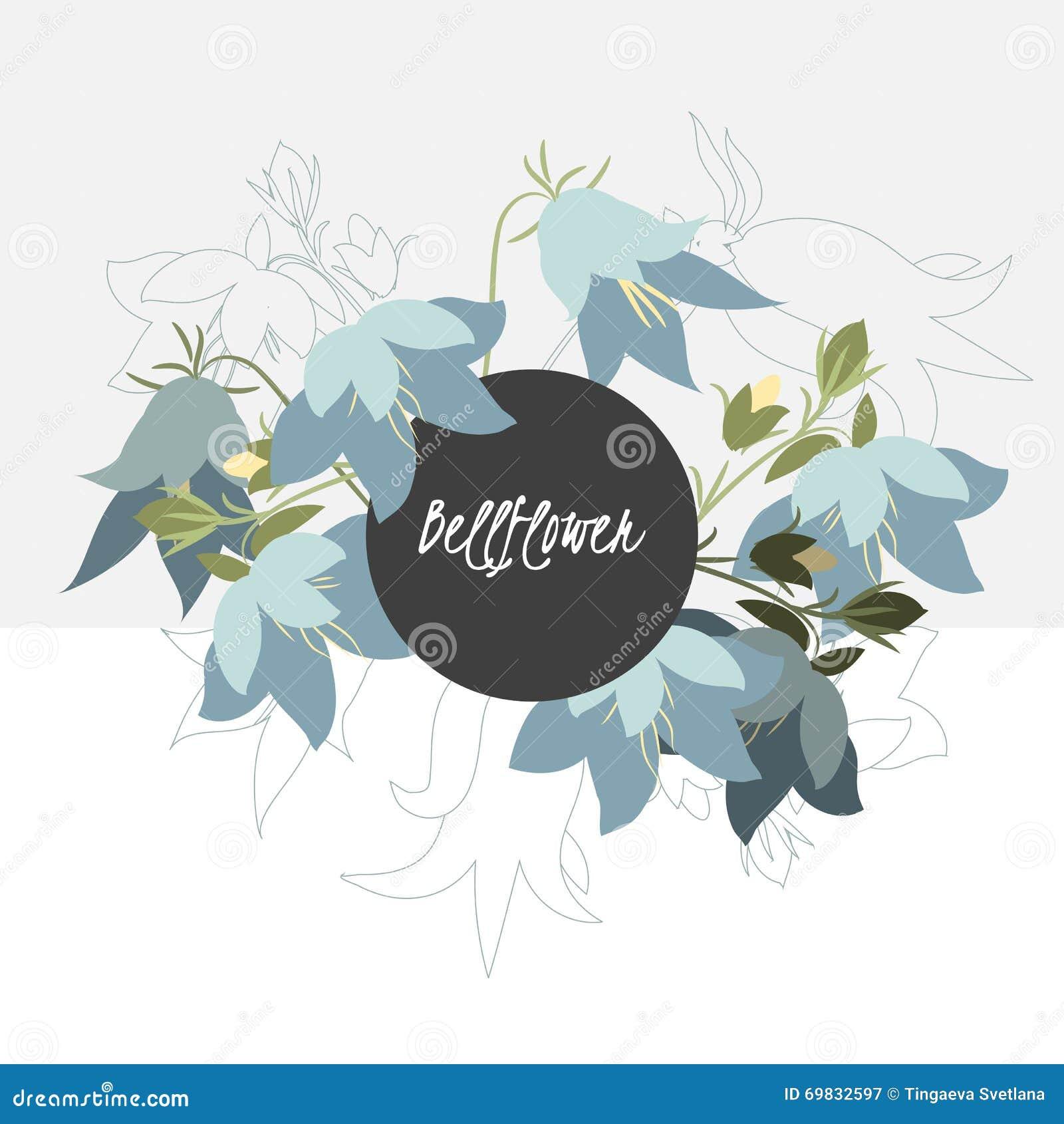Greeting card bell flower