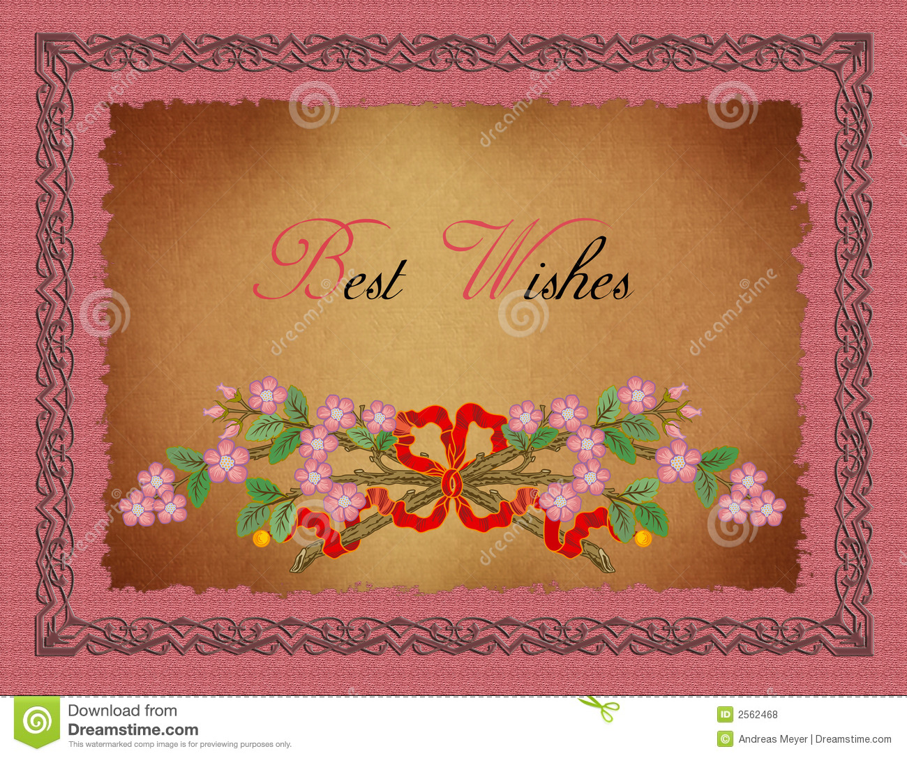 greeting card best wishes stock illustration illustration