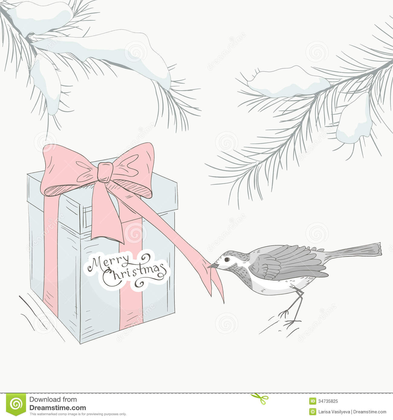Greeting Card With Bird 3 Royalty Free Stock Photo