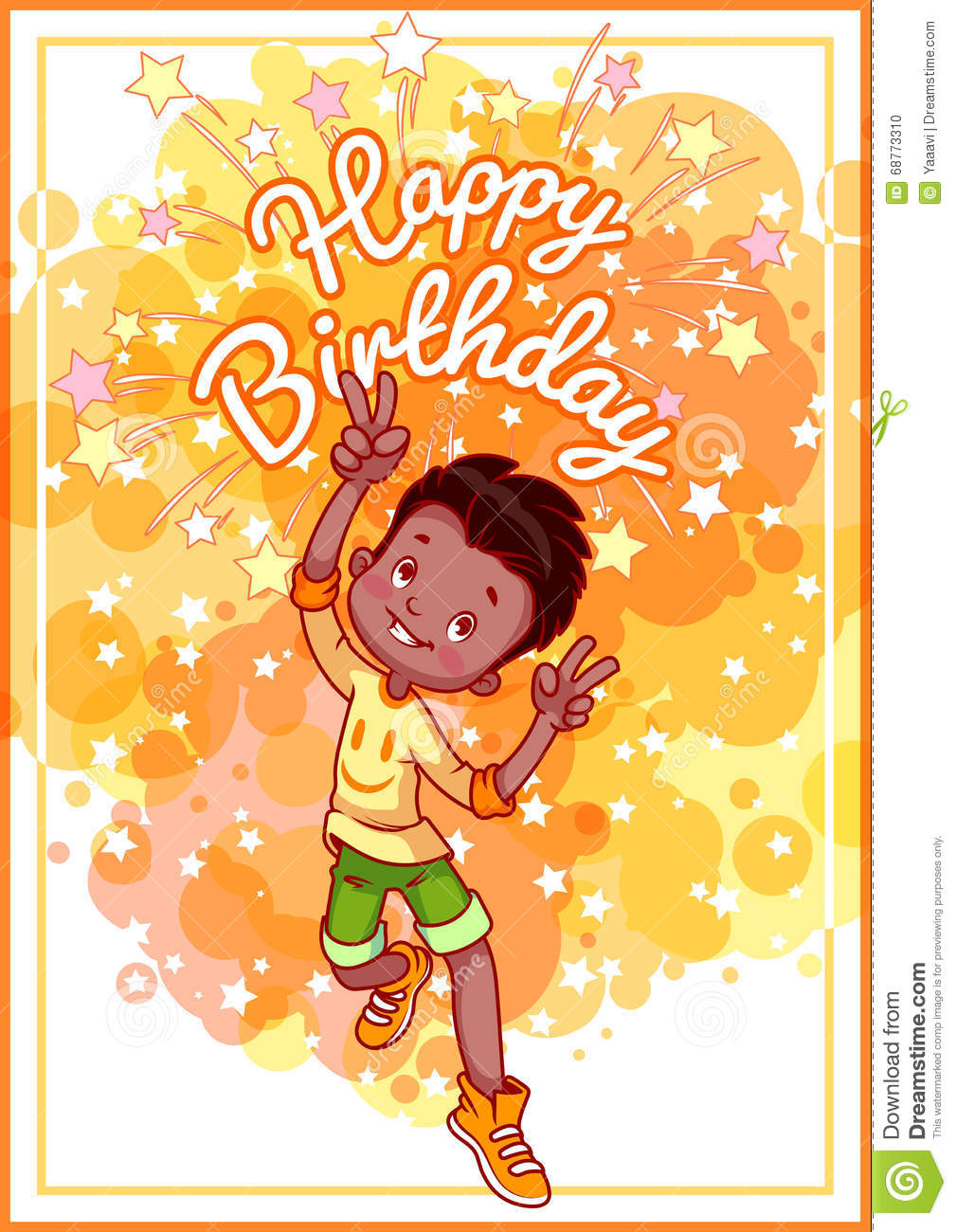 Greeting card birthday with a happy african american boy stock greeting card birthday with a happy african american boy kristyandbryce Image collections