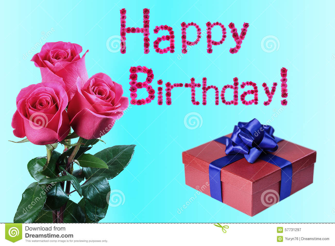 greeting card for birthday stock photo  image 57731297