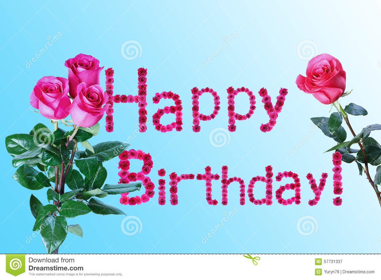 Greeting Card For Birthday Stock Image Image Of Design 57731337