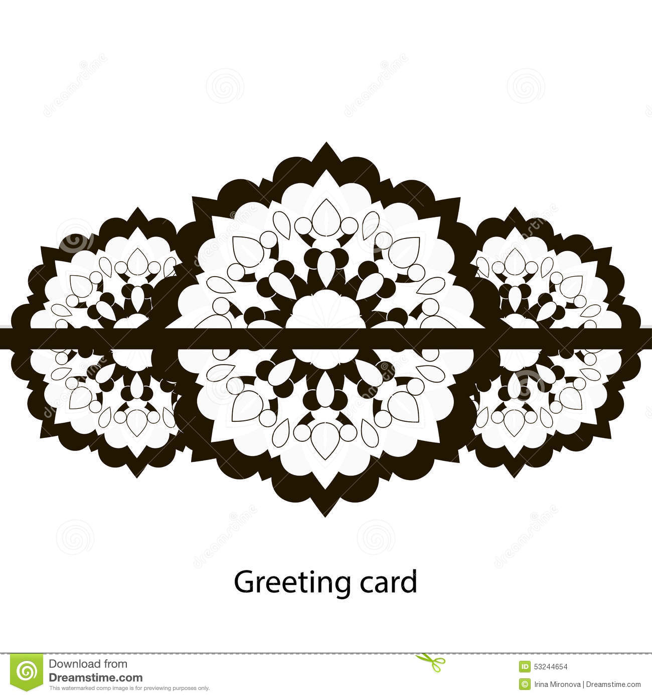Greeting card black and white stock vector image