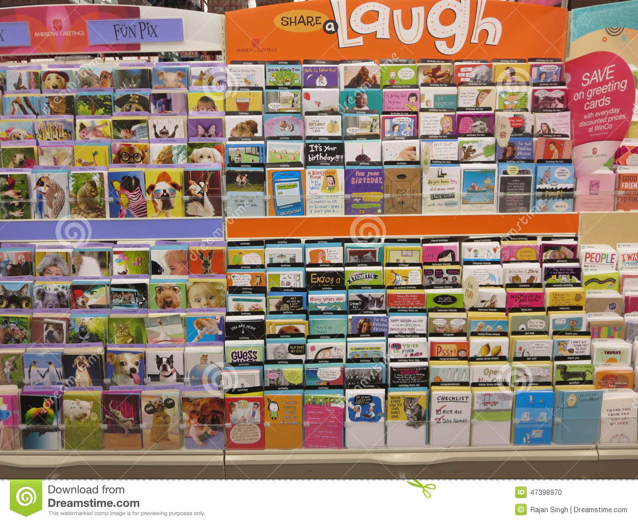 Greeting card editorial image image of different shelves 47398970 greeting cards display inside a store m4hsunfo
