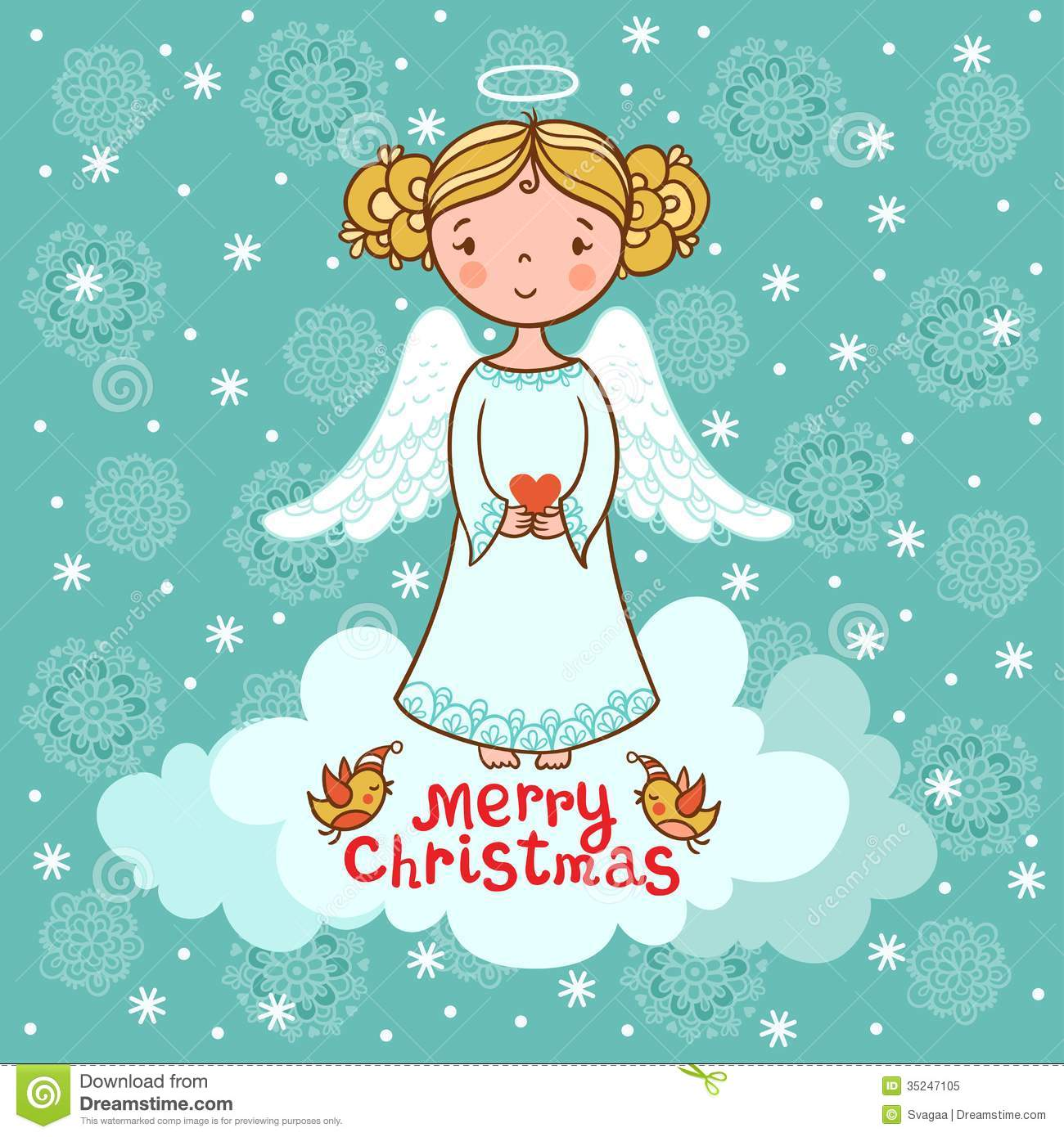 Greeting Card, Christmas Card With Angel Royalty Free Stock Photo ...