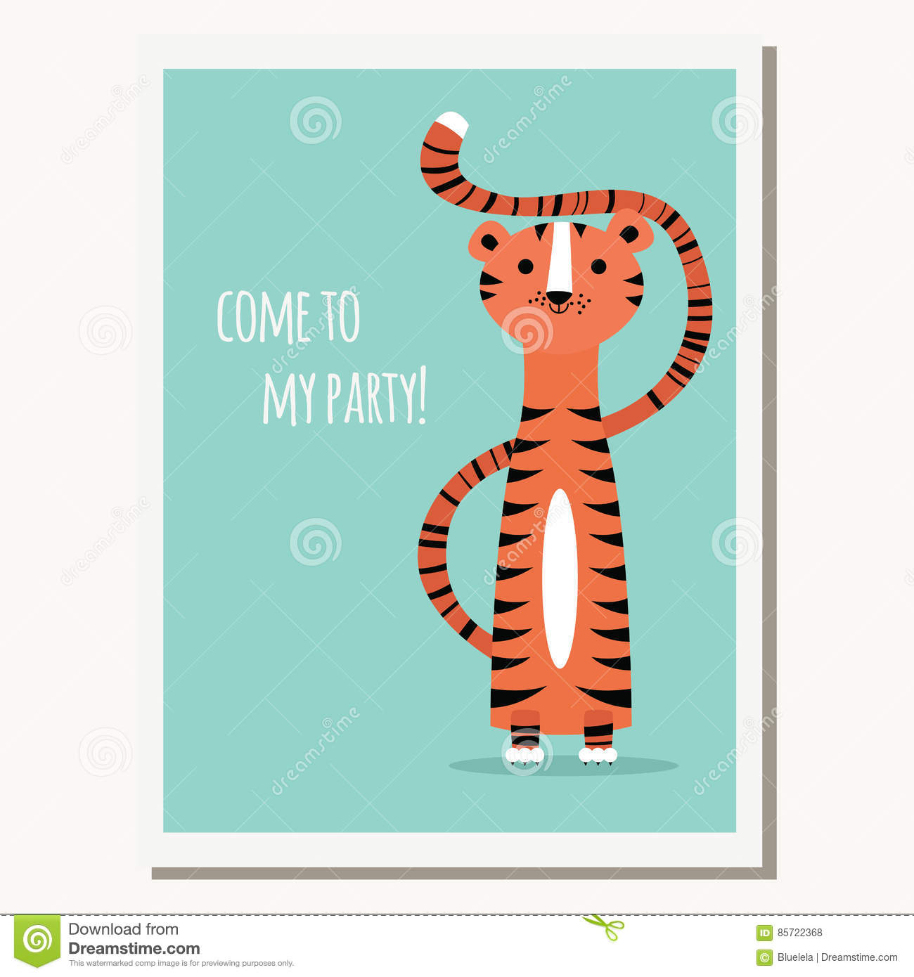 Greeting card with cute tiger and text message stock vector greeting card with cute tiger and text message m4hsunfo