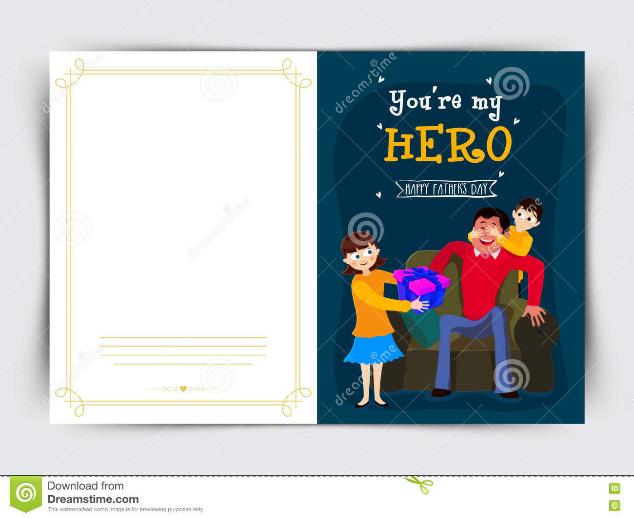 Greeting Card Design For Father S Day Celebration