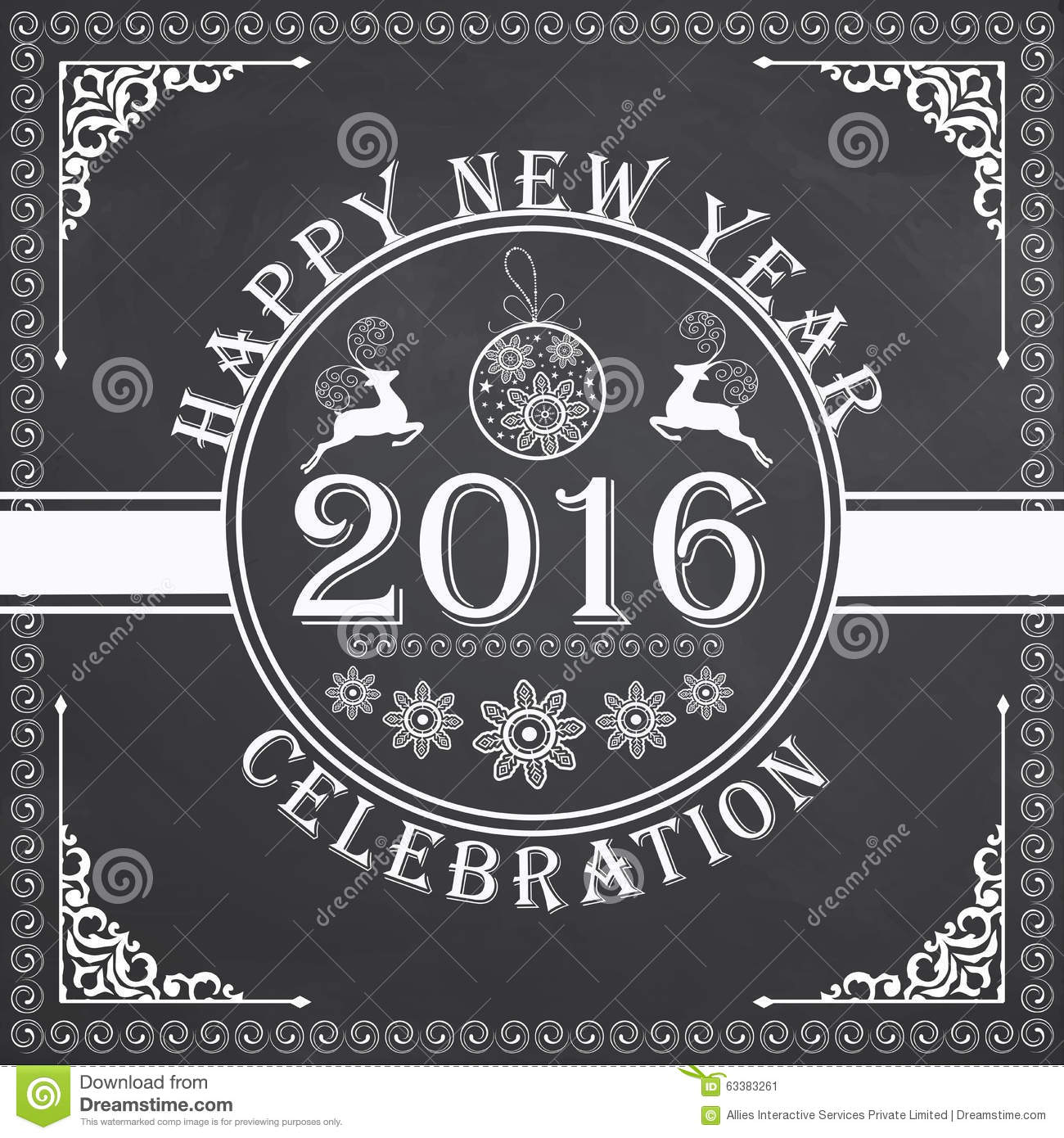 Greeting Card Design For Happy New Year. Stock ...