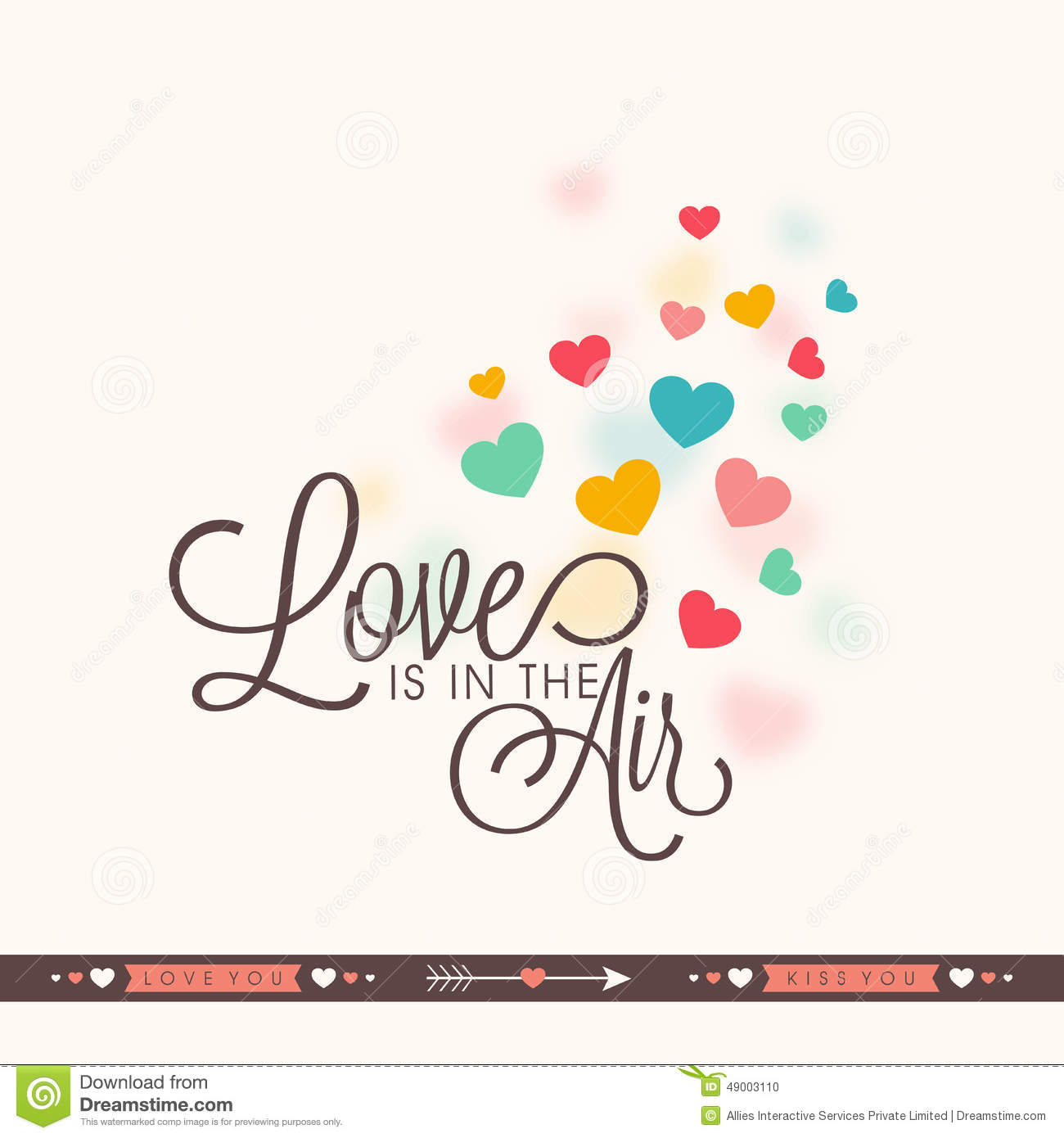 Greeting Card Design For Happy Valentines Day Celebration Stock