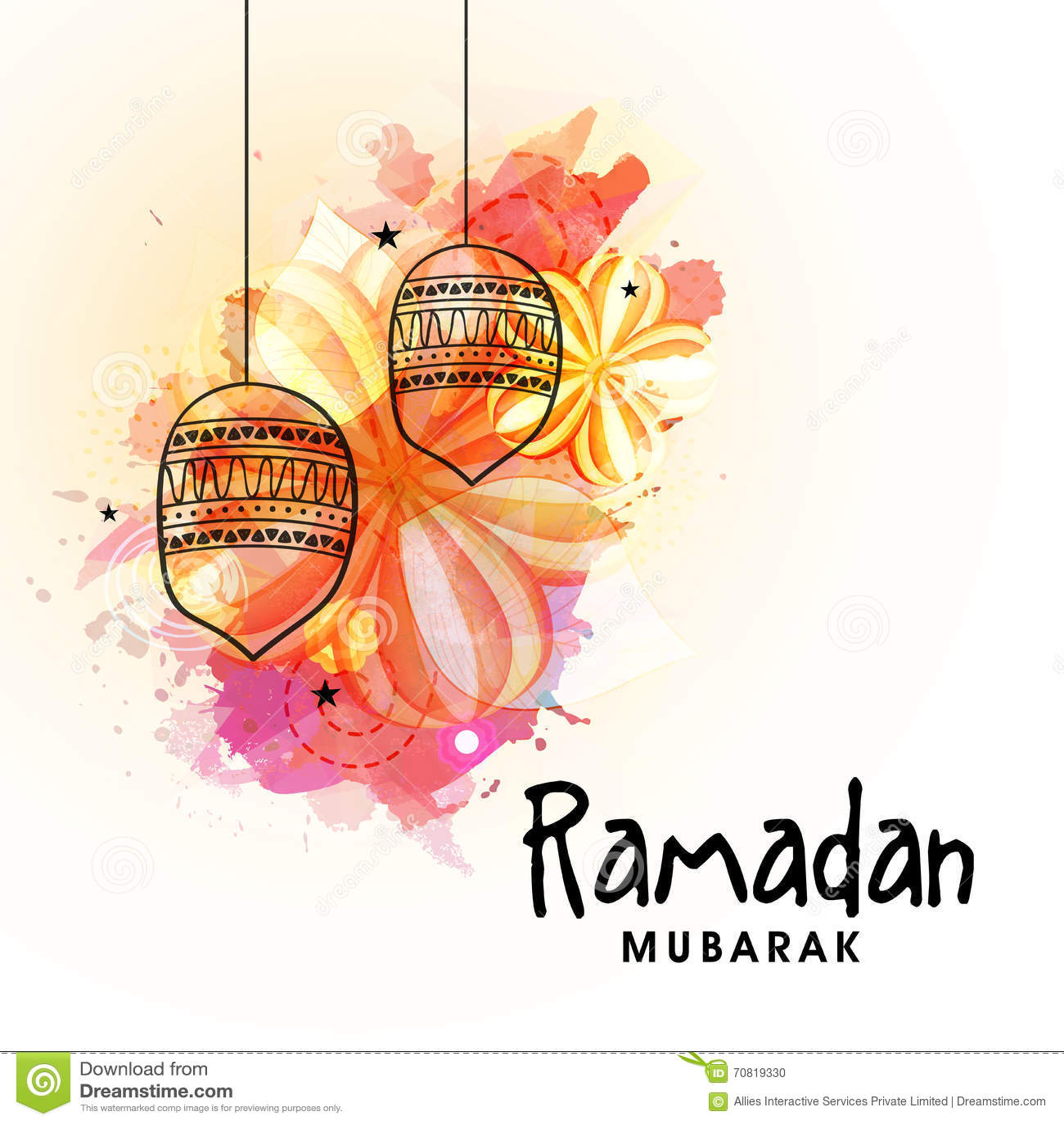 Greeting card design for ramadan mubarak stock illustration download comp m4hsunfo