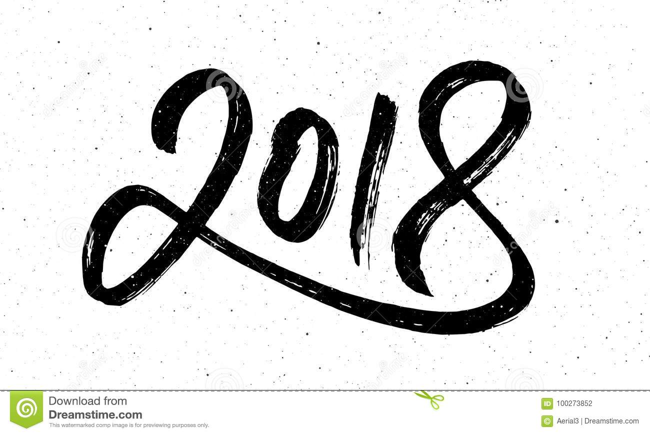 Download Calligraphy For 2018 New Year Of The Dog Stock Vector