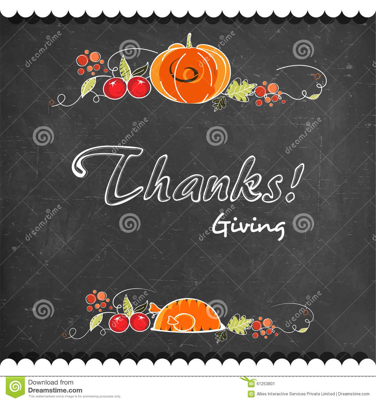 Greeting Card Design For Thanksgiving Day Stock Illustration