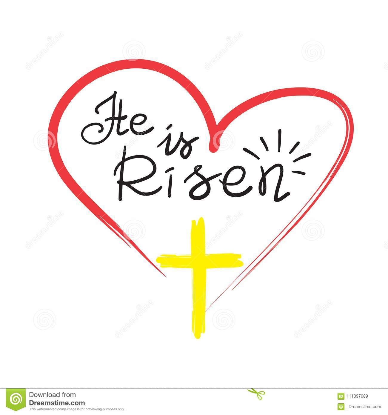 Greeting Card For Easter He Is Risen Motivational Quote Lettering