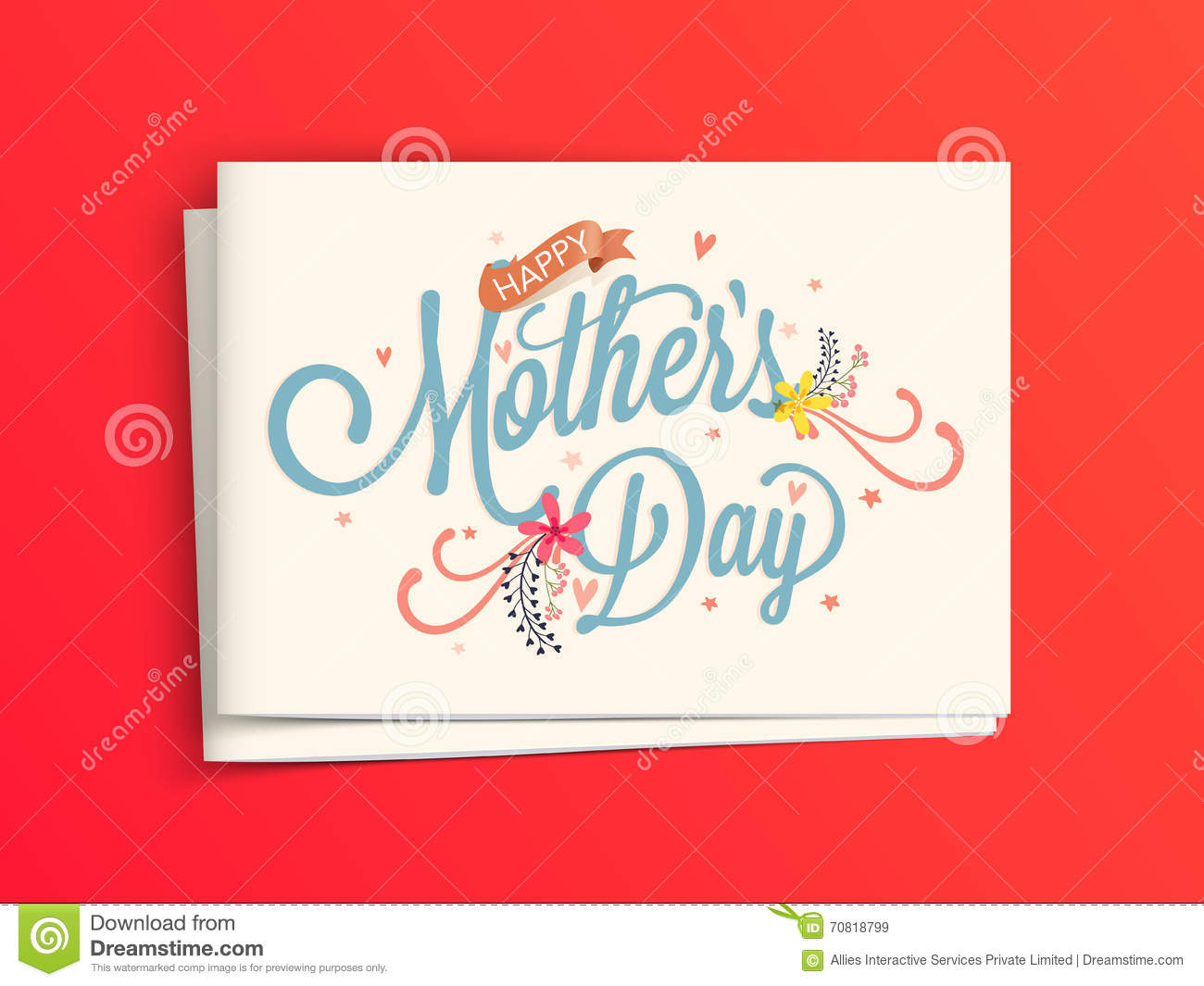Greeting card with envelope for mothers day stock illustration greeting card with envelope for mother s day m4hsunfo