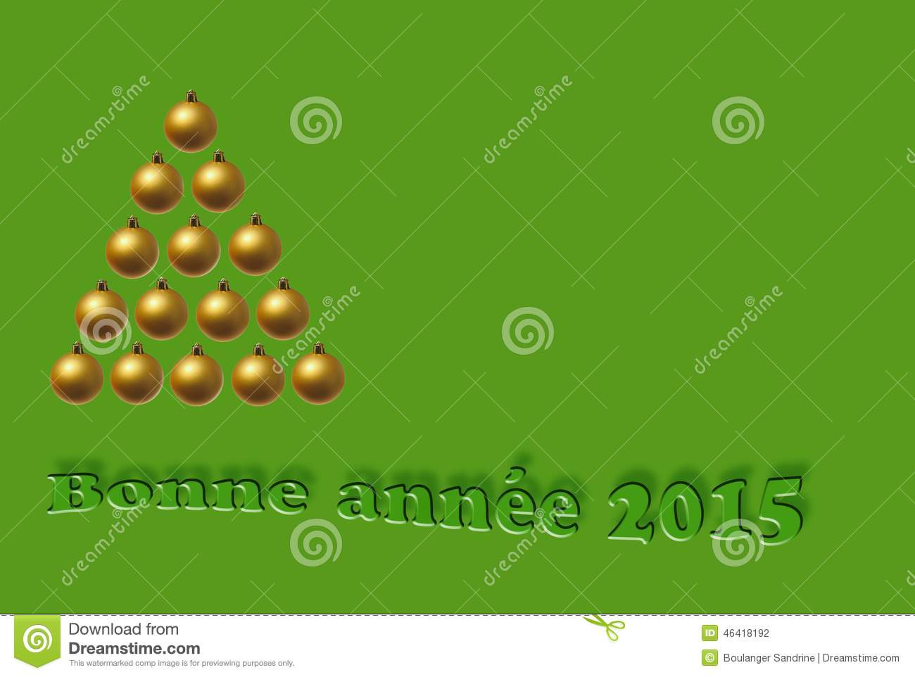 Greeting Card For 2015 Stock Illustration Illustration Of Text