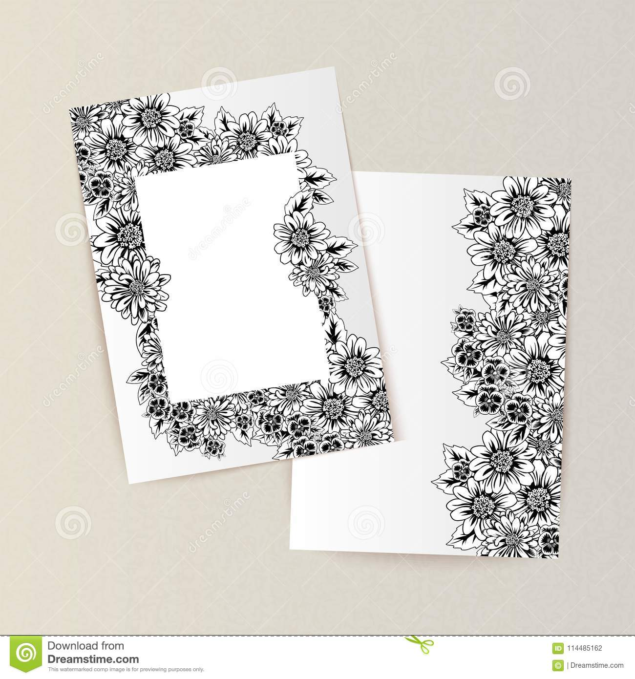 Greeting card with flowers stock vector illustration of gift download greeting card with flowers stock vector illustration of gift 114485162 m4hsunfo