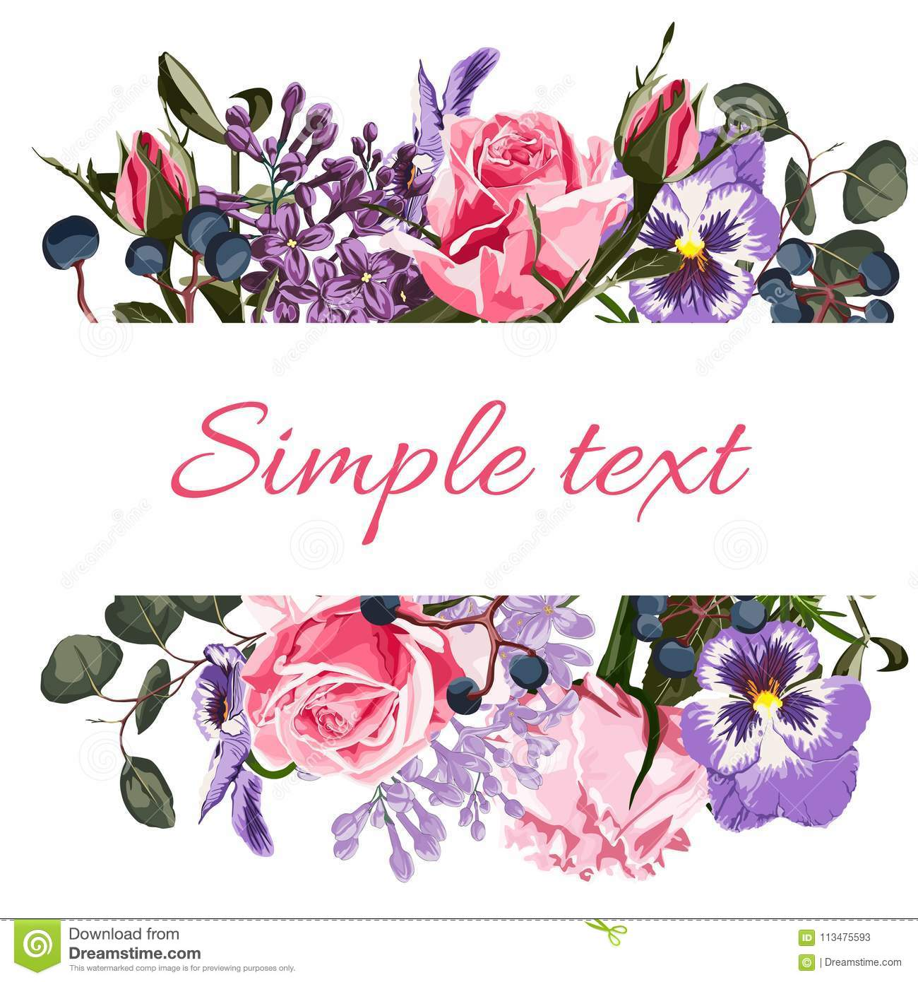 Greeting card with flowers watercolor can be used as invitation download greeting card with flowers watercolor can be used as invitation card for wedding izmirmasajfo